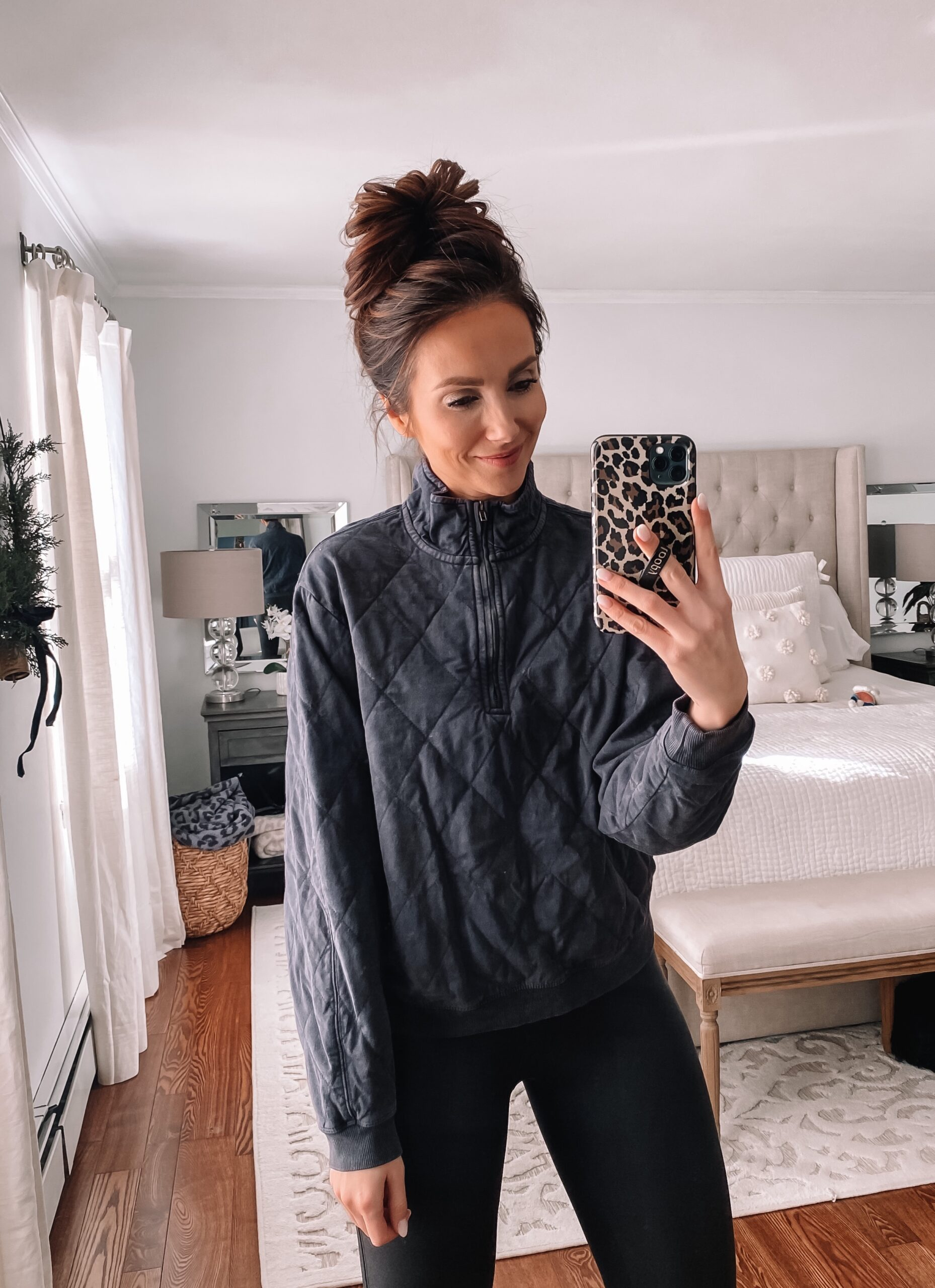 target quilted pullover