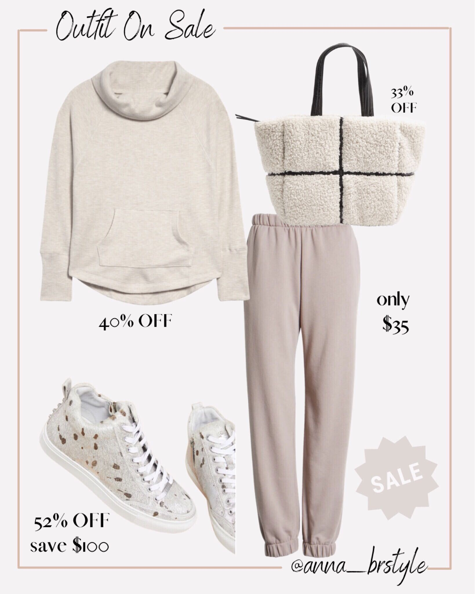 cozy athleisure outfit