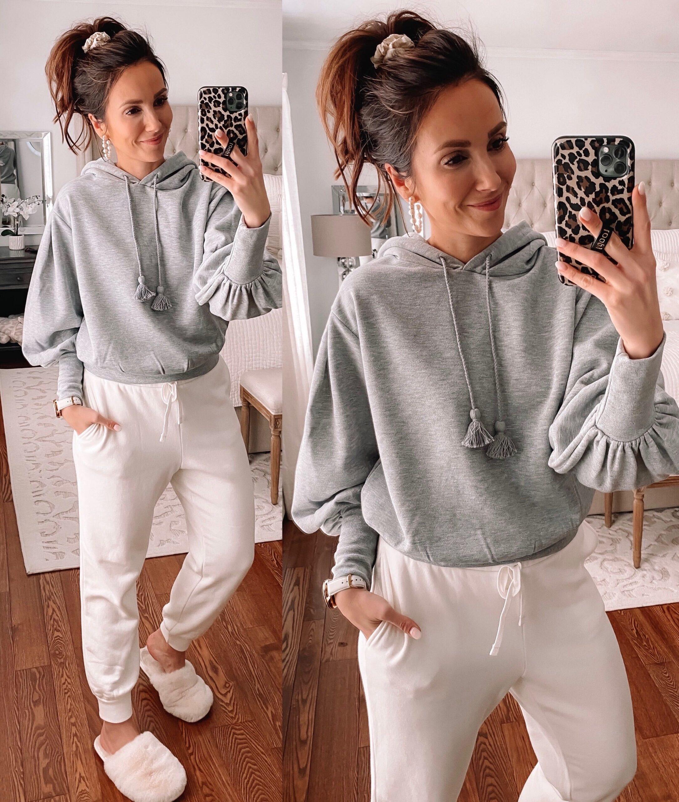 express grey sweatshirt, express loungewear