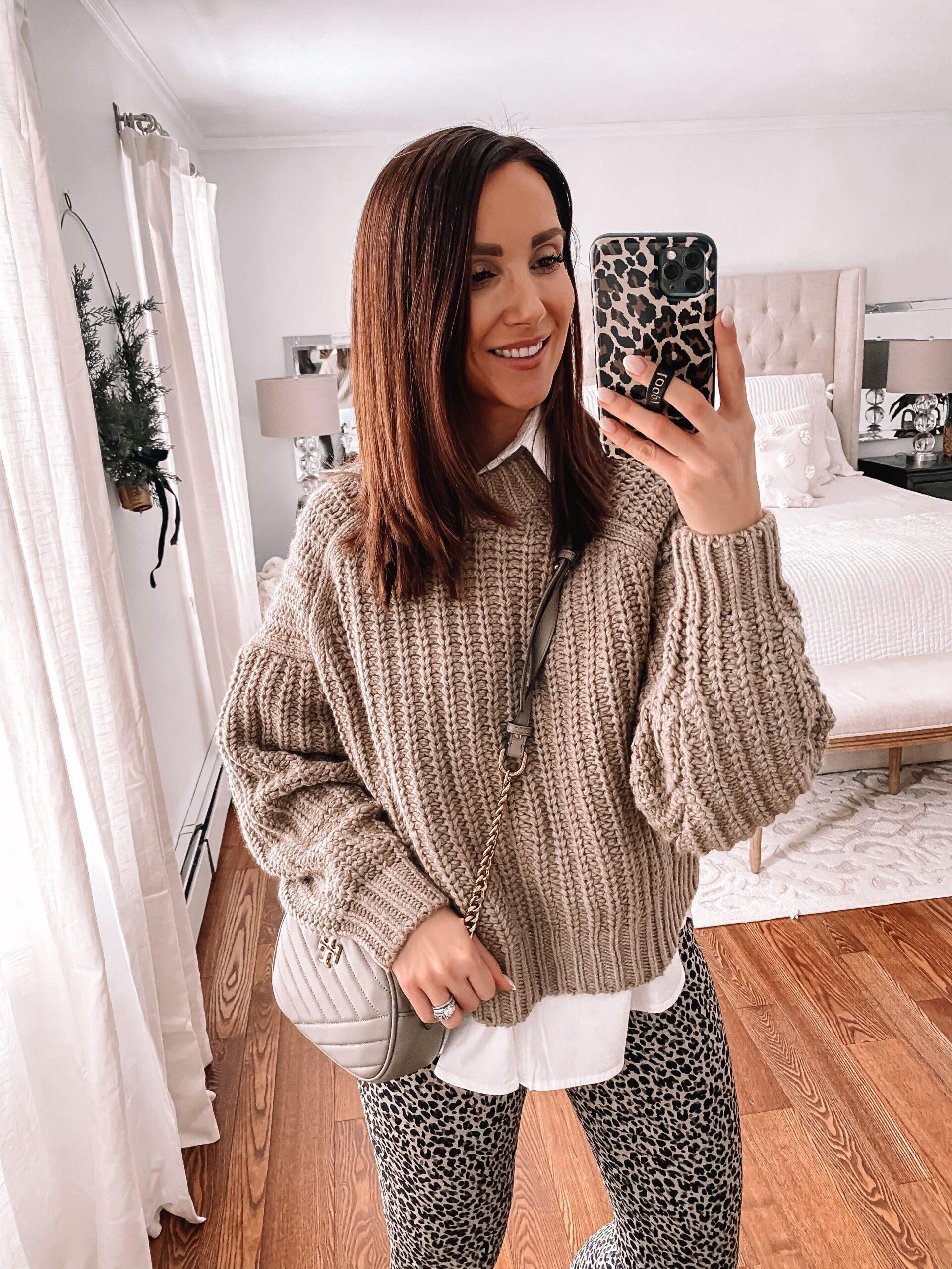 h&m chunky sweater