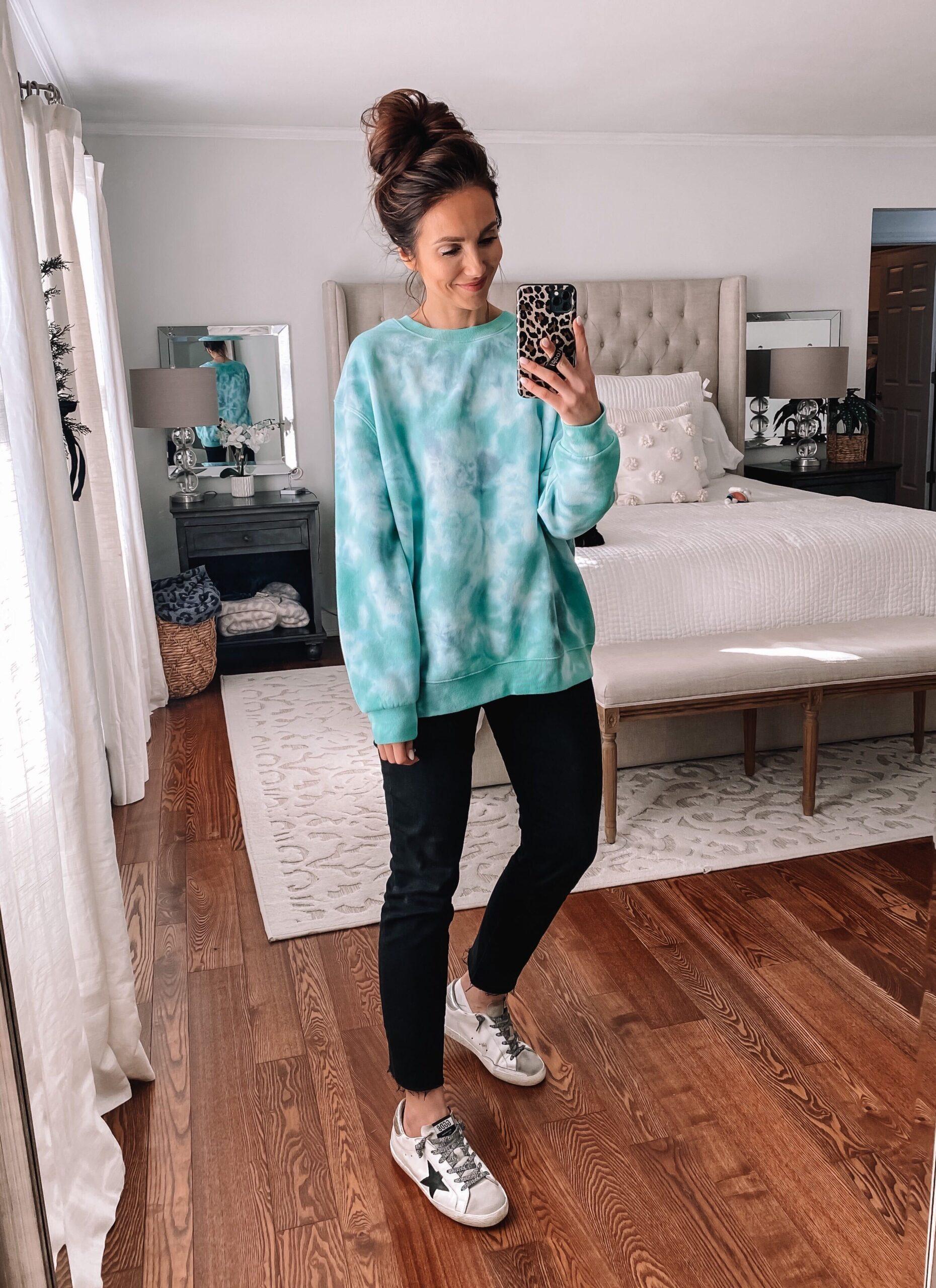 target style, target tie dye sweatshirt