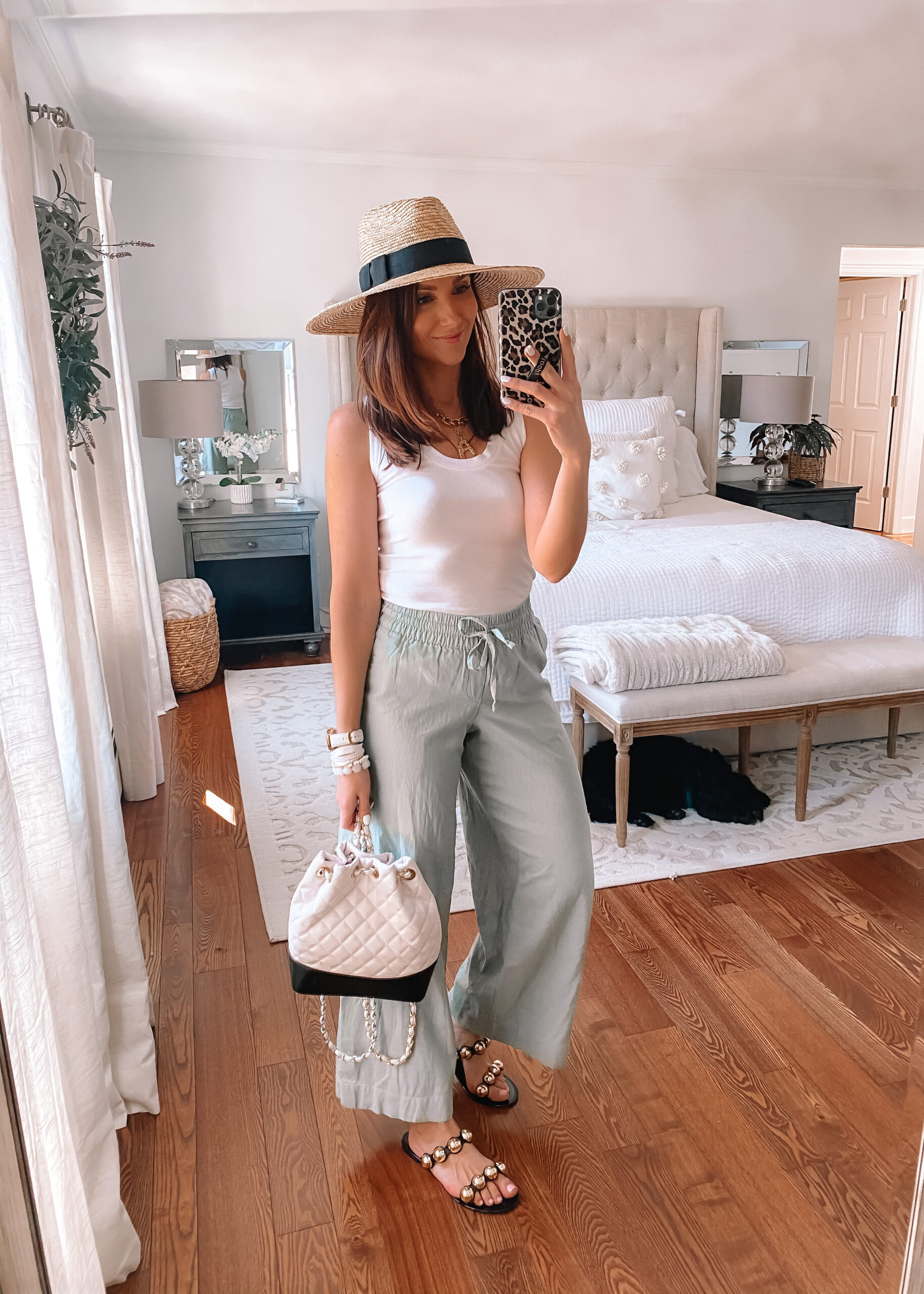 target style, spring outfit, wide leg pants