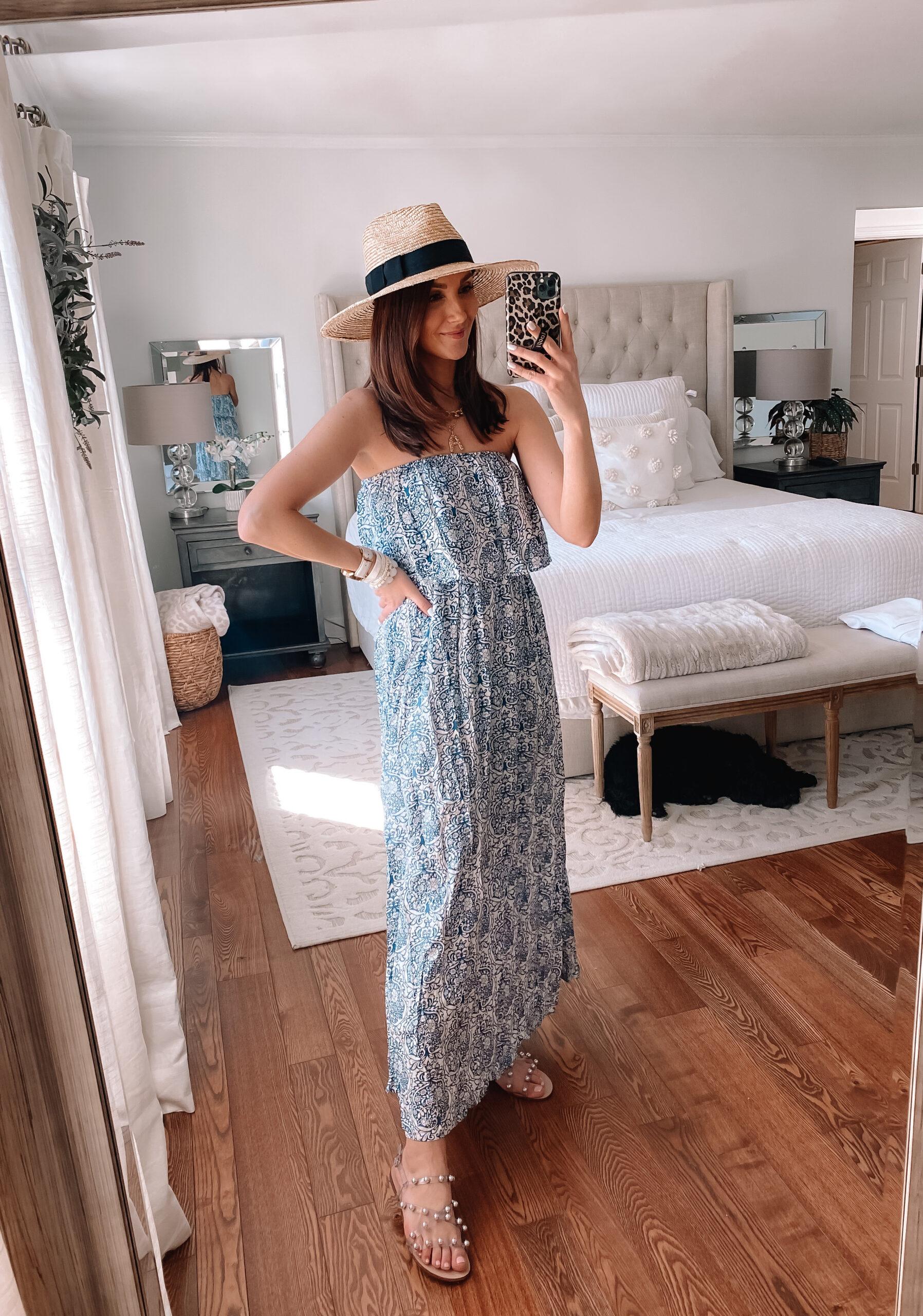 amazon blue maxi dress, amazon style