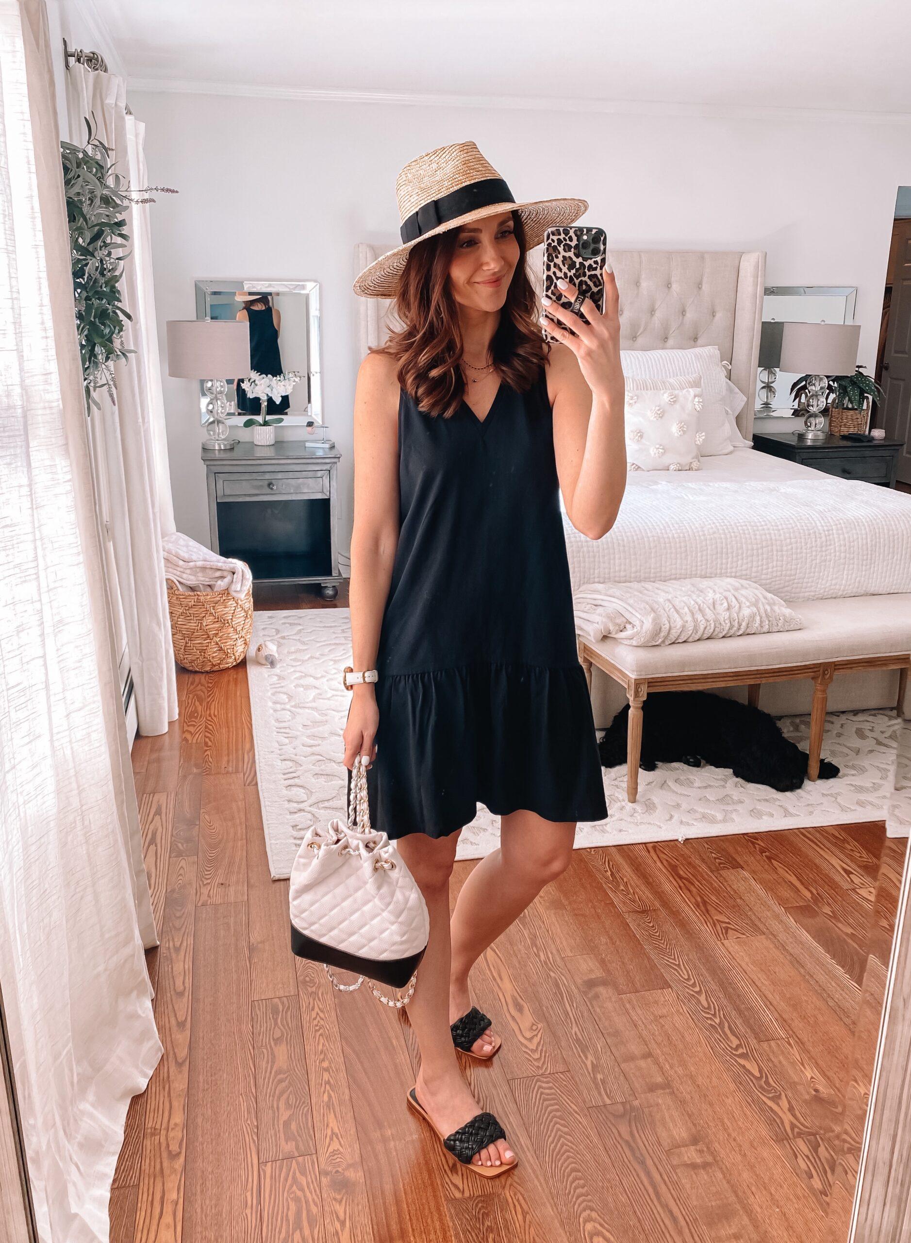 target black dress, target style