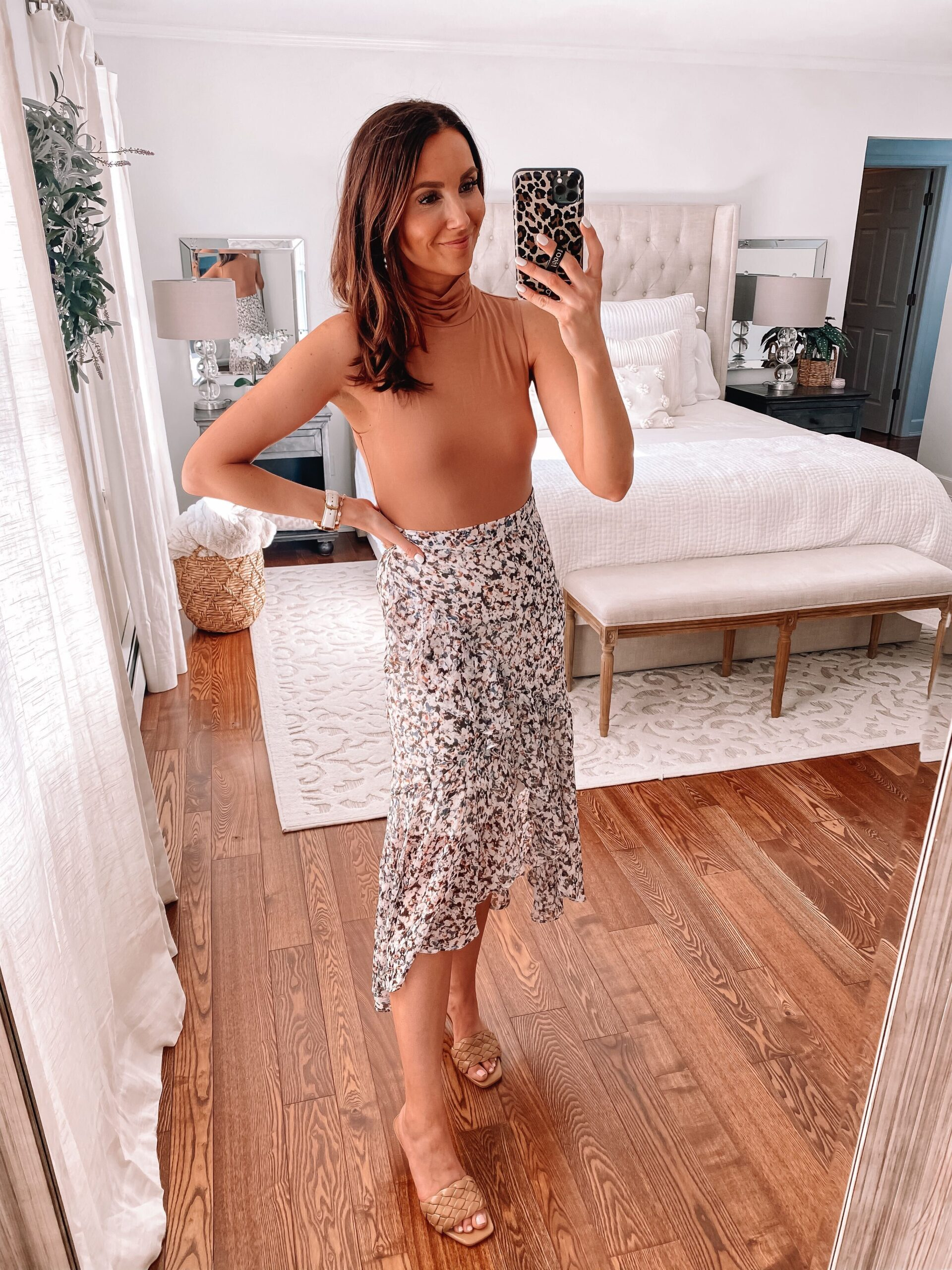express bodysuit and skirt