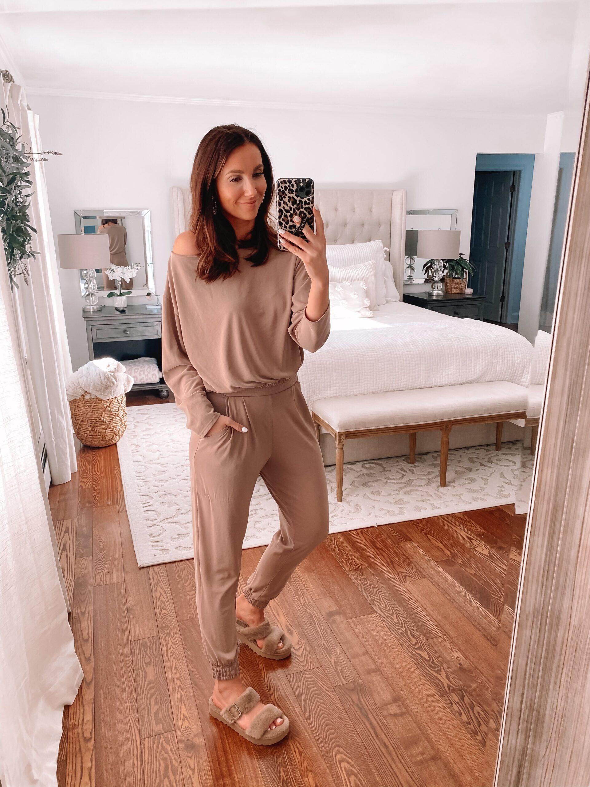 express loungewear, koolaburra slippers