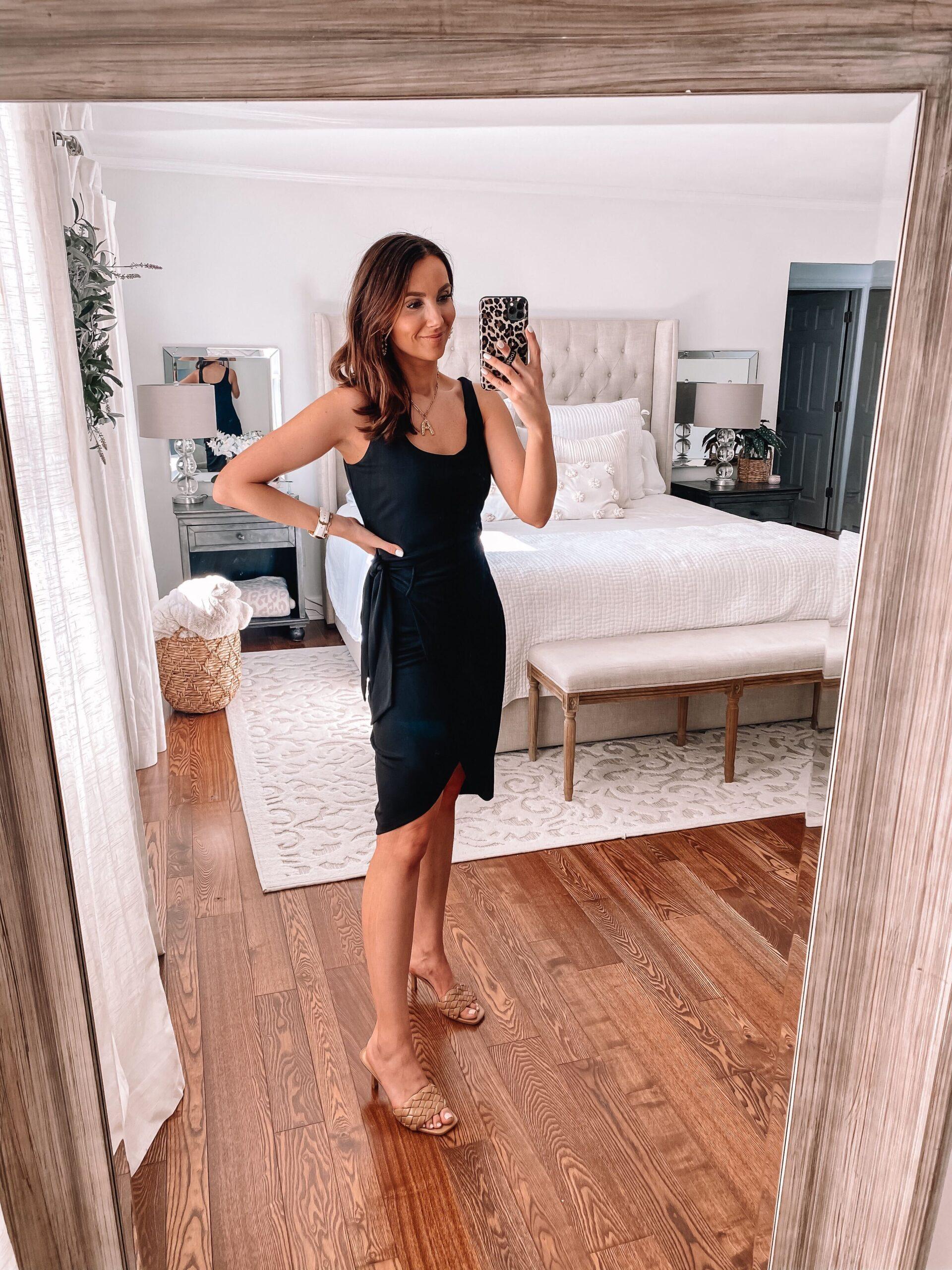 spring dress, express black dress