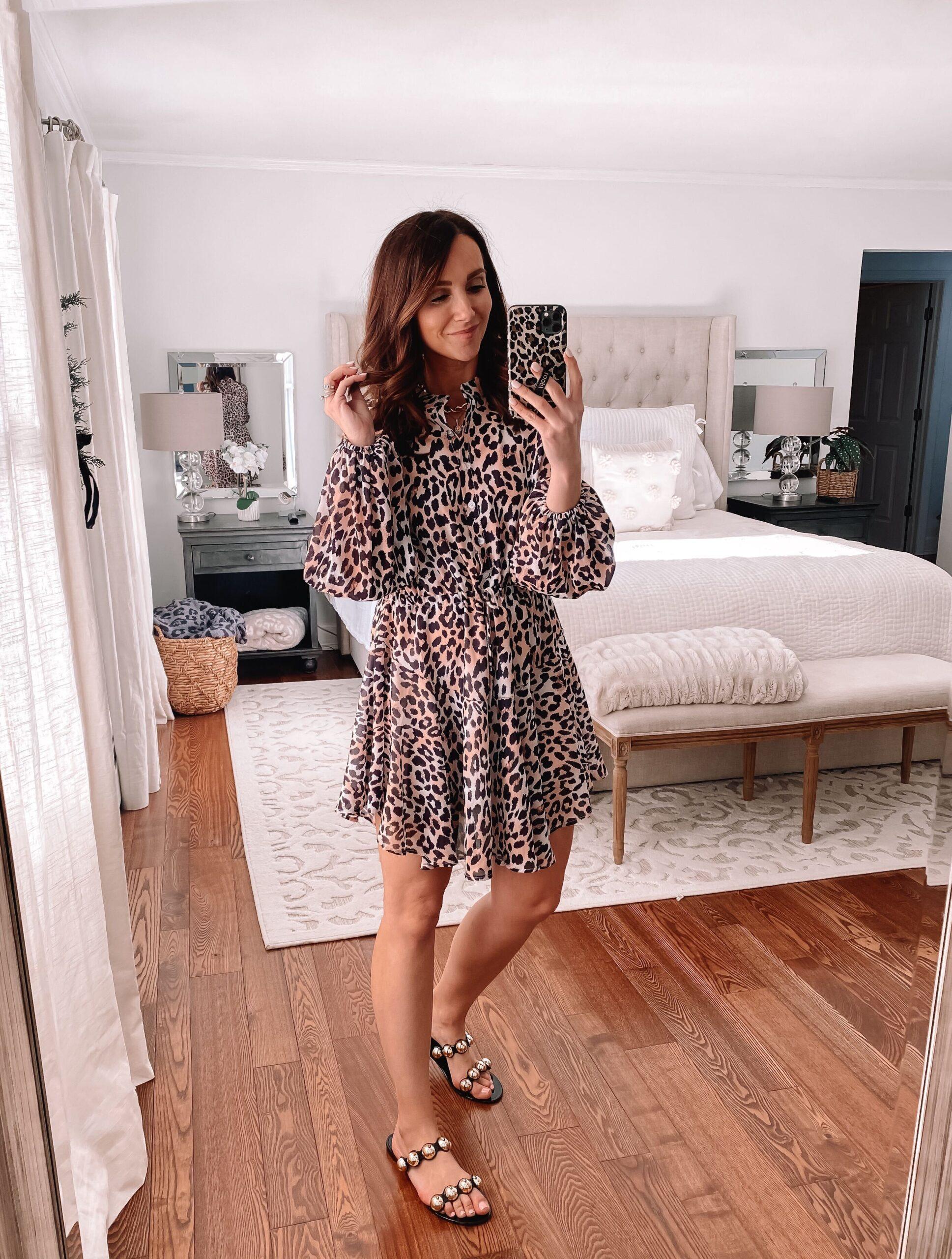 amazon fashion, amazon leopard dress