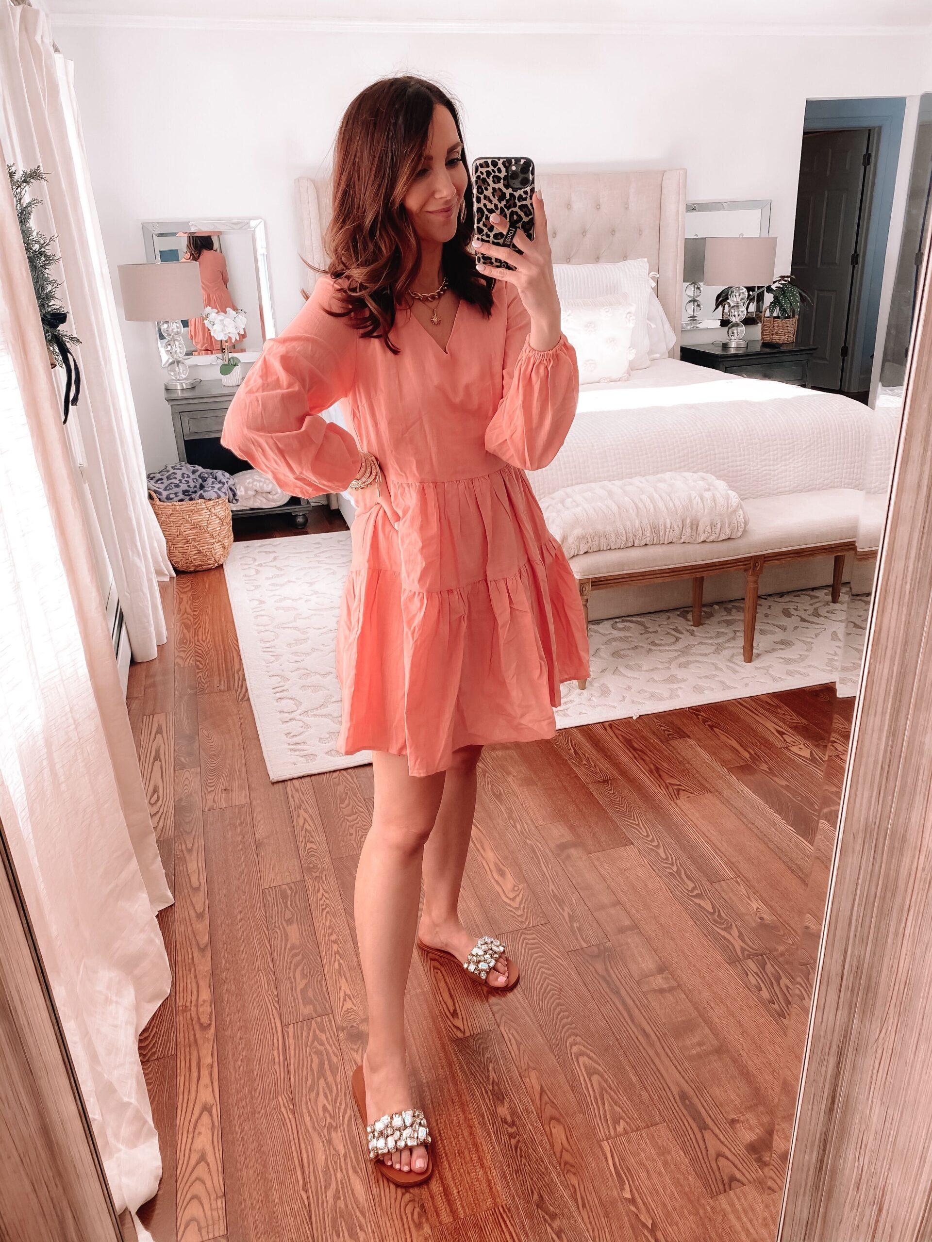 amazon pink dress, amazon fashion