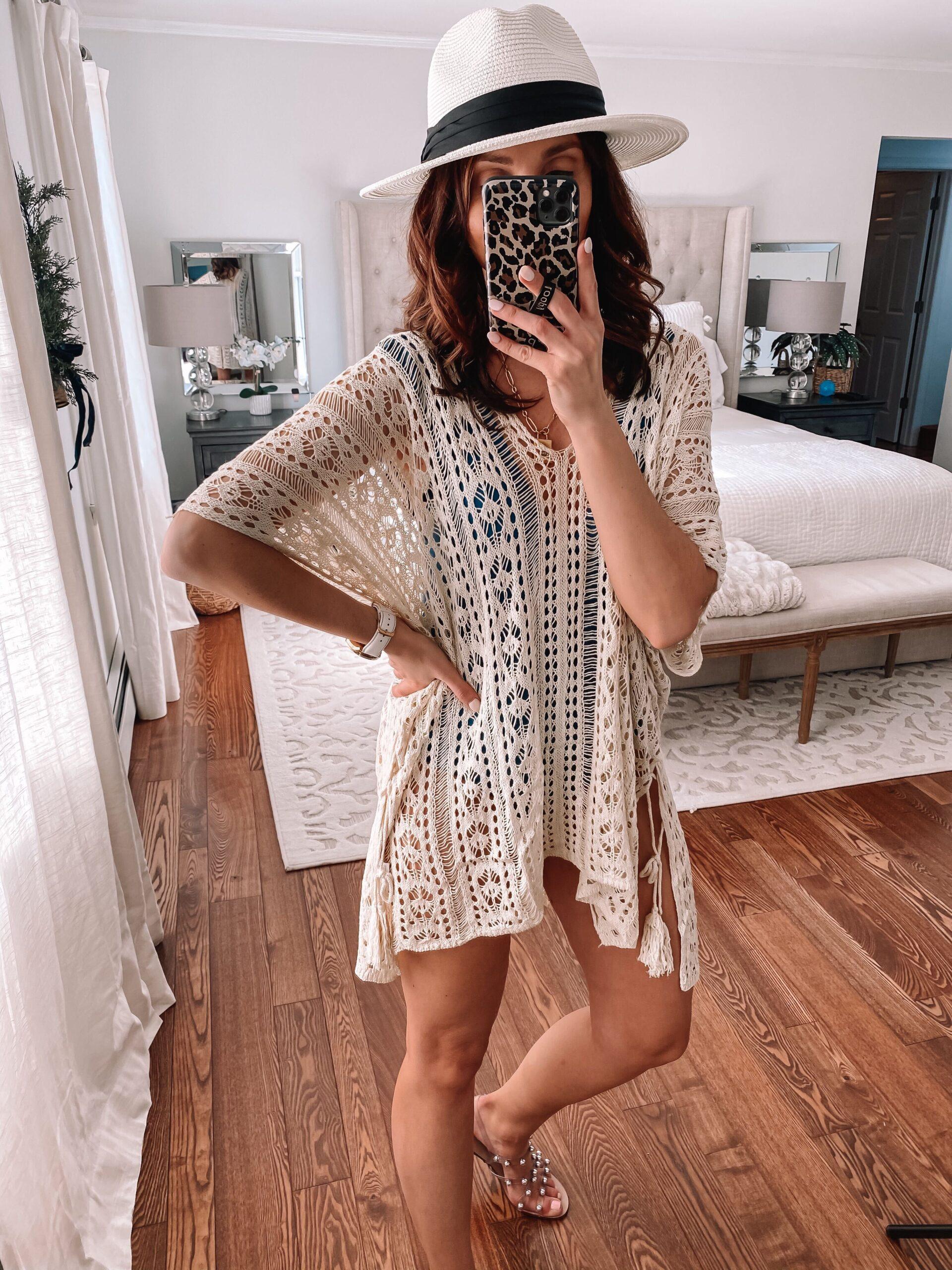 amazon crochet swim cover up
