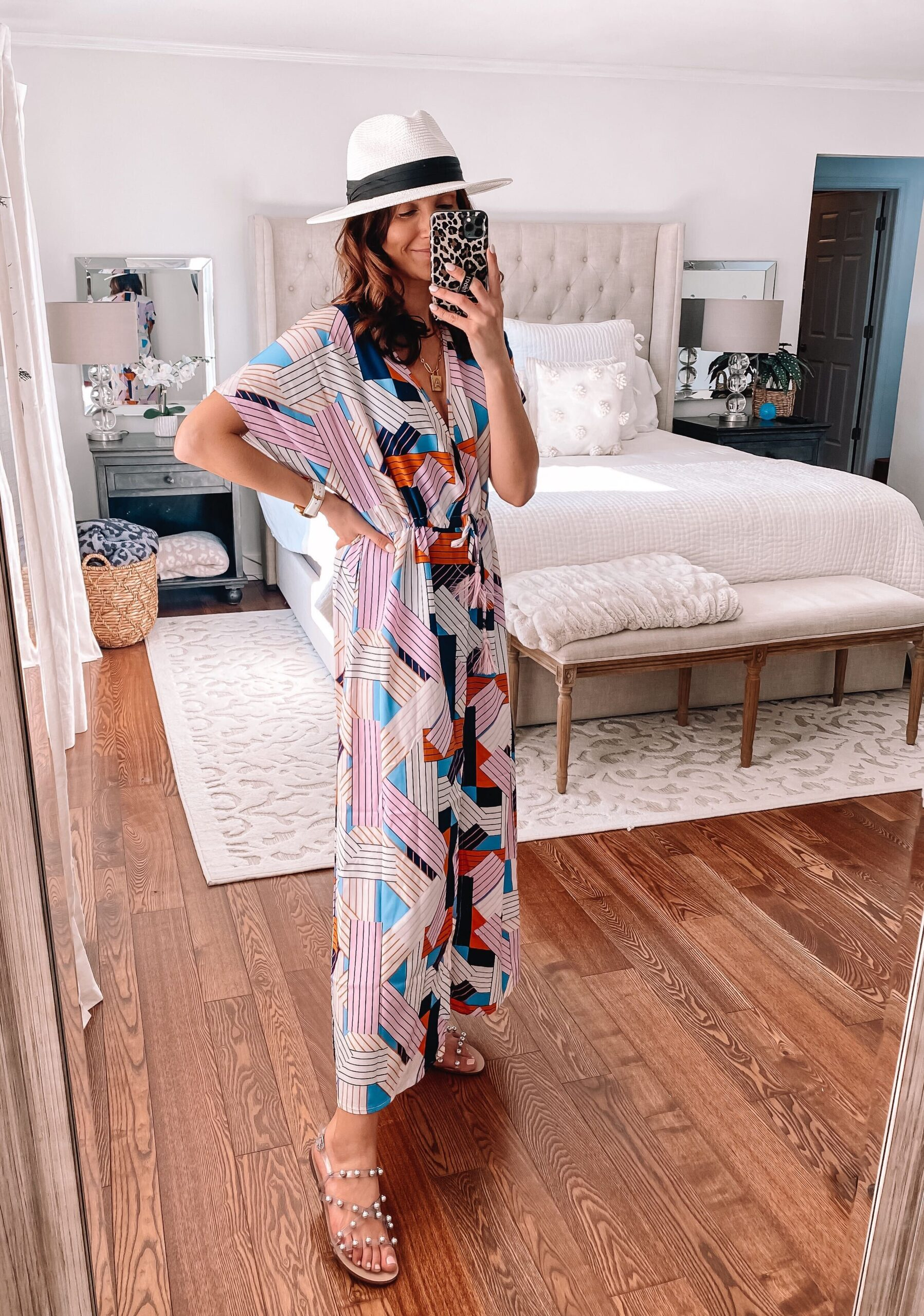amazon patterned swim cover up