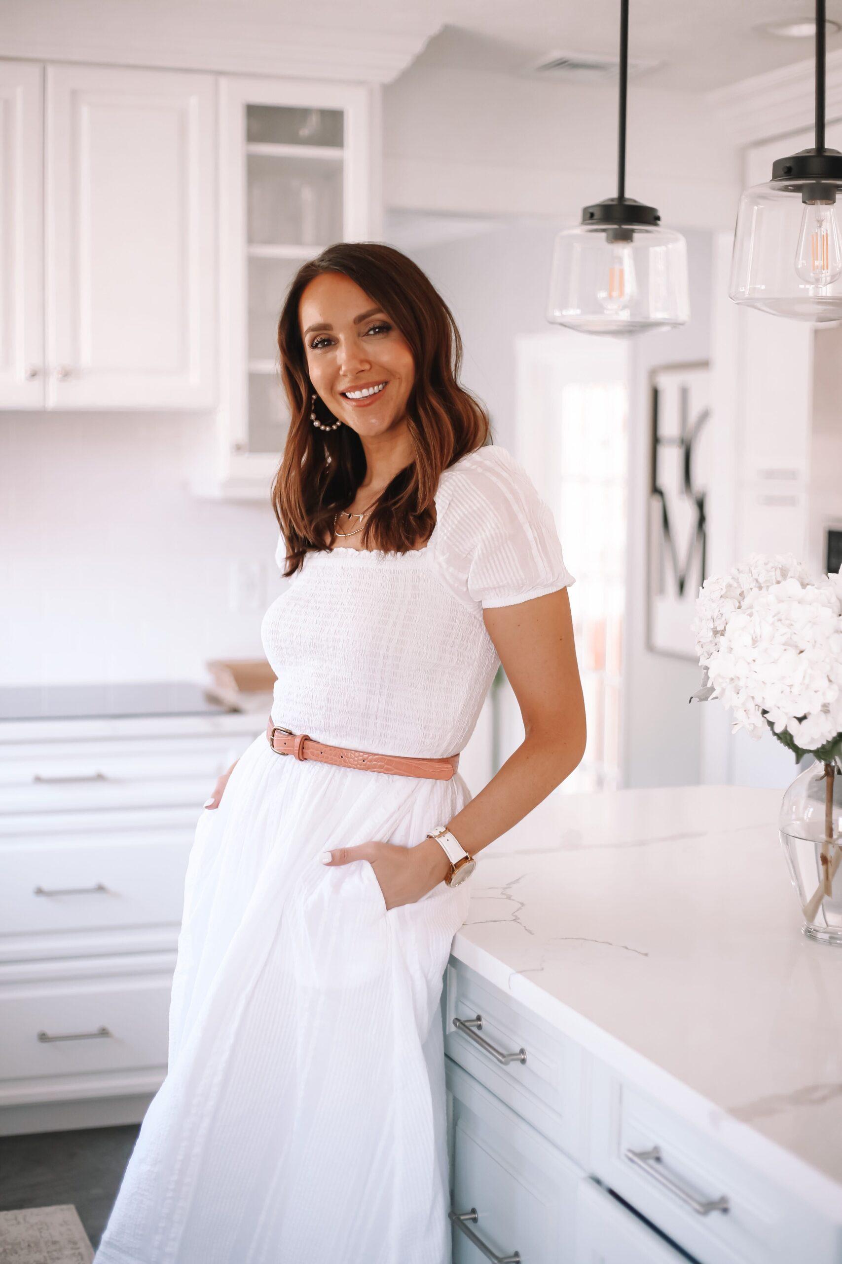 loft white spring dress