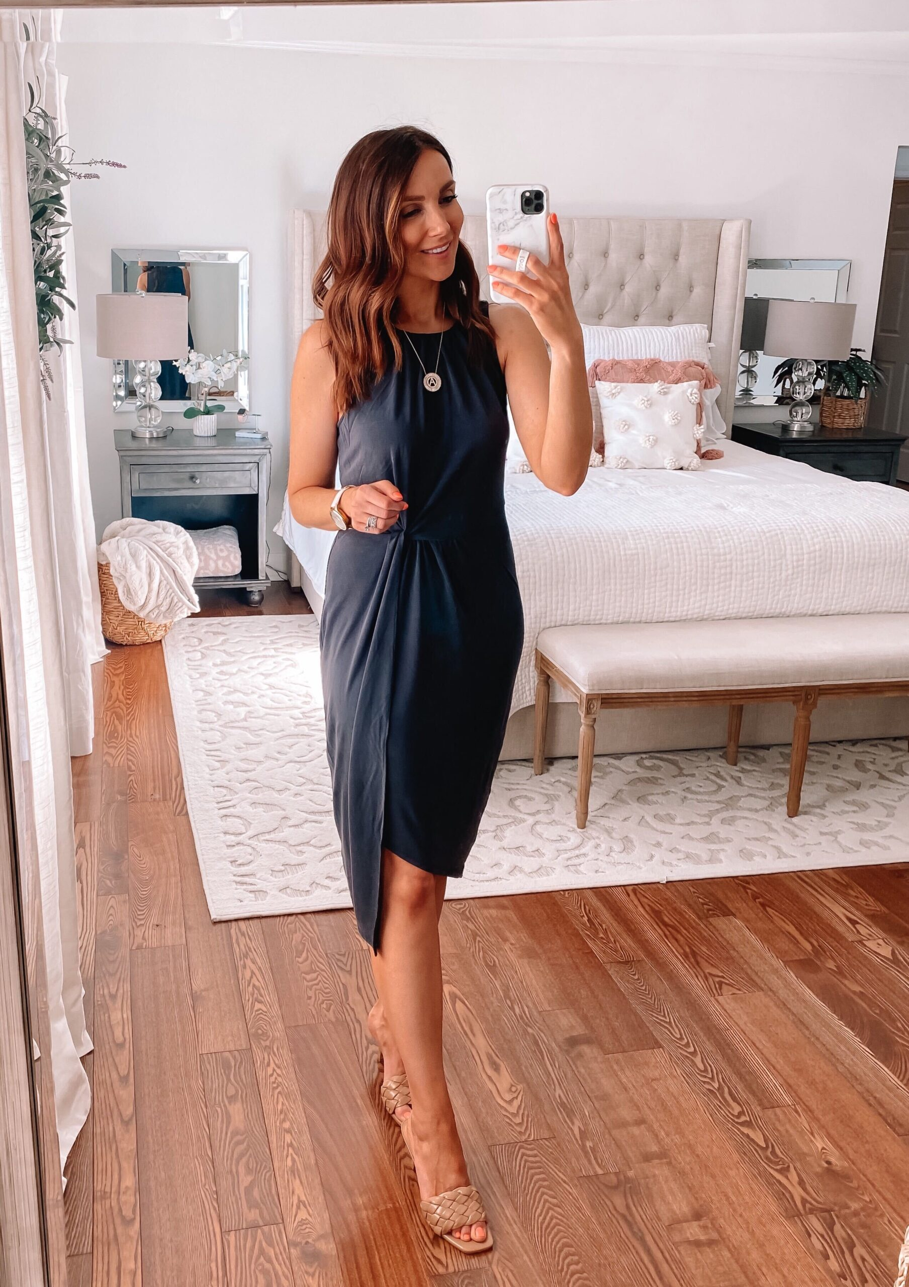spring outfit, black express dress