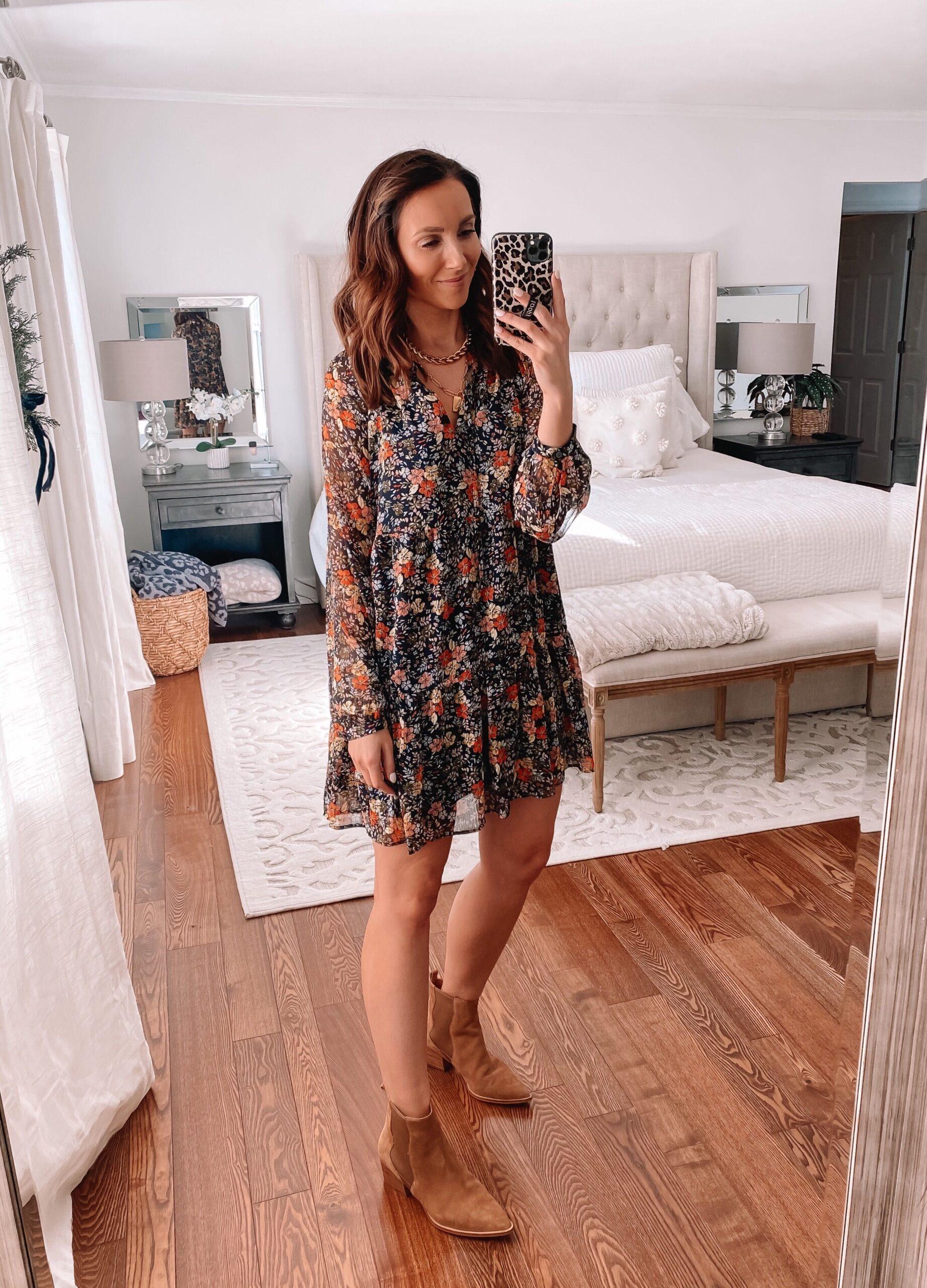 loft spring floral dress
