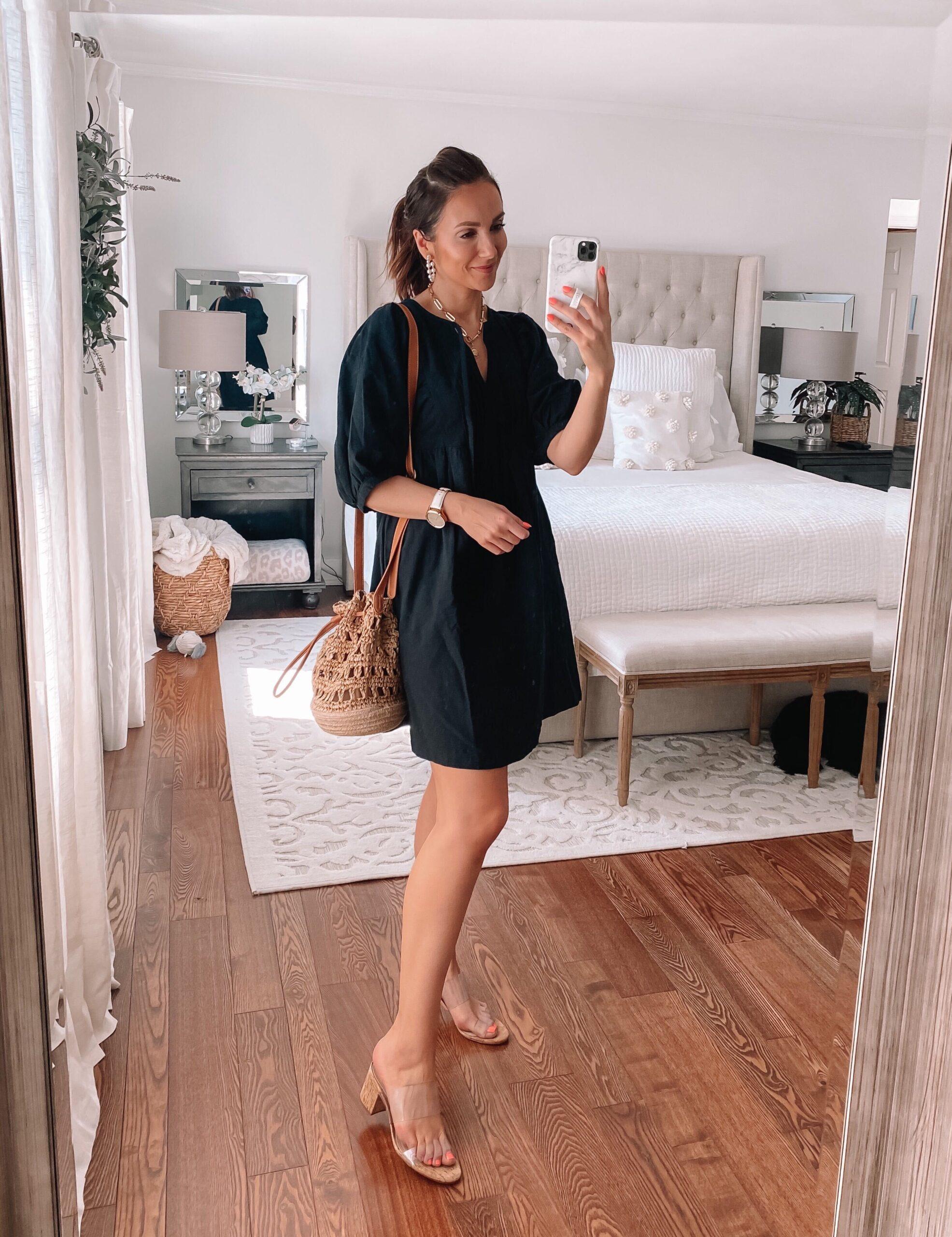 target black dress, spring dress
