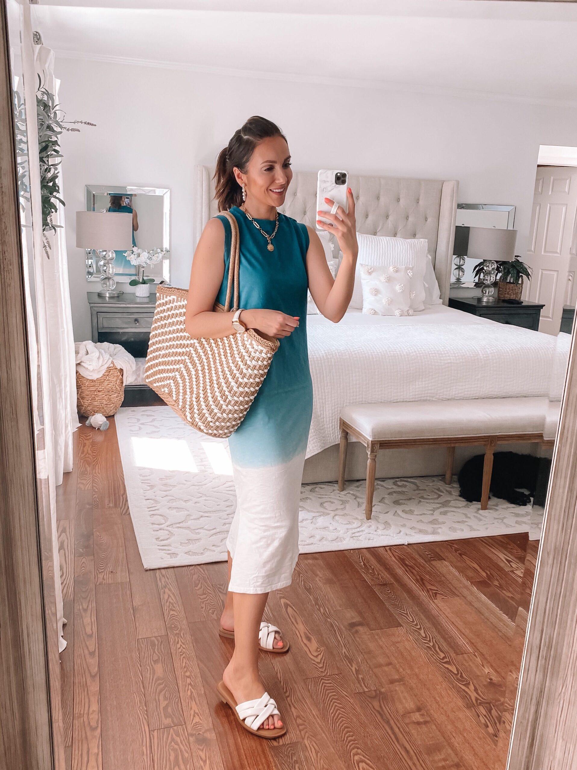 target blue ombre dress, target style, target spring dress