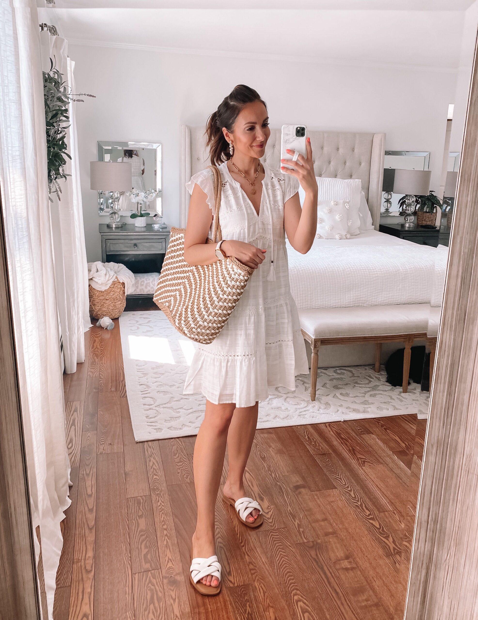target short white dress