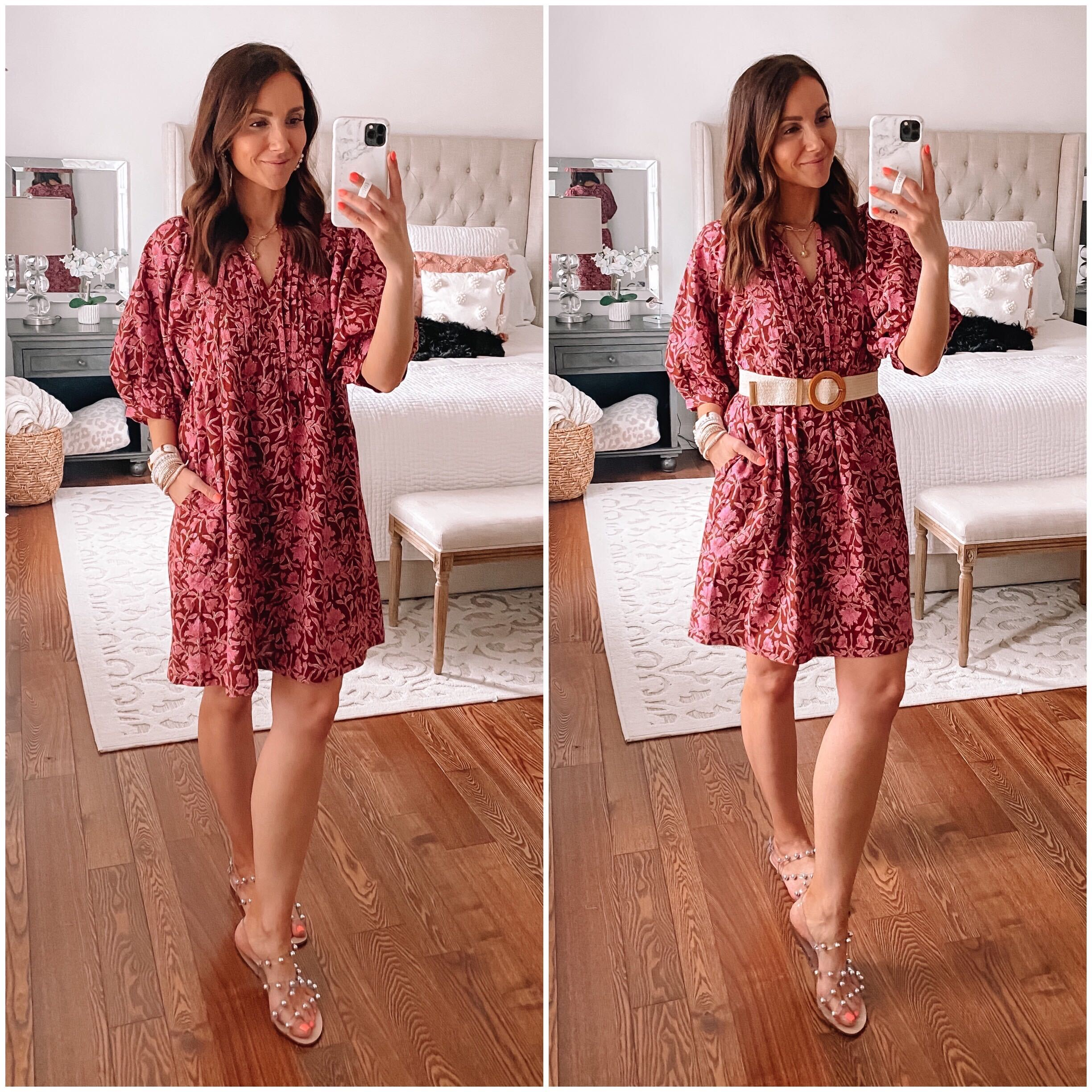 target dress with puff sleeves