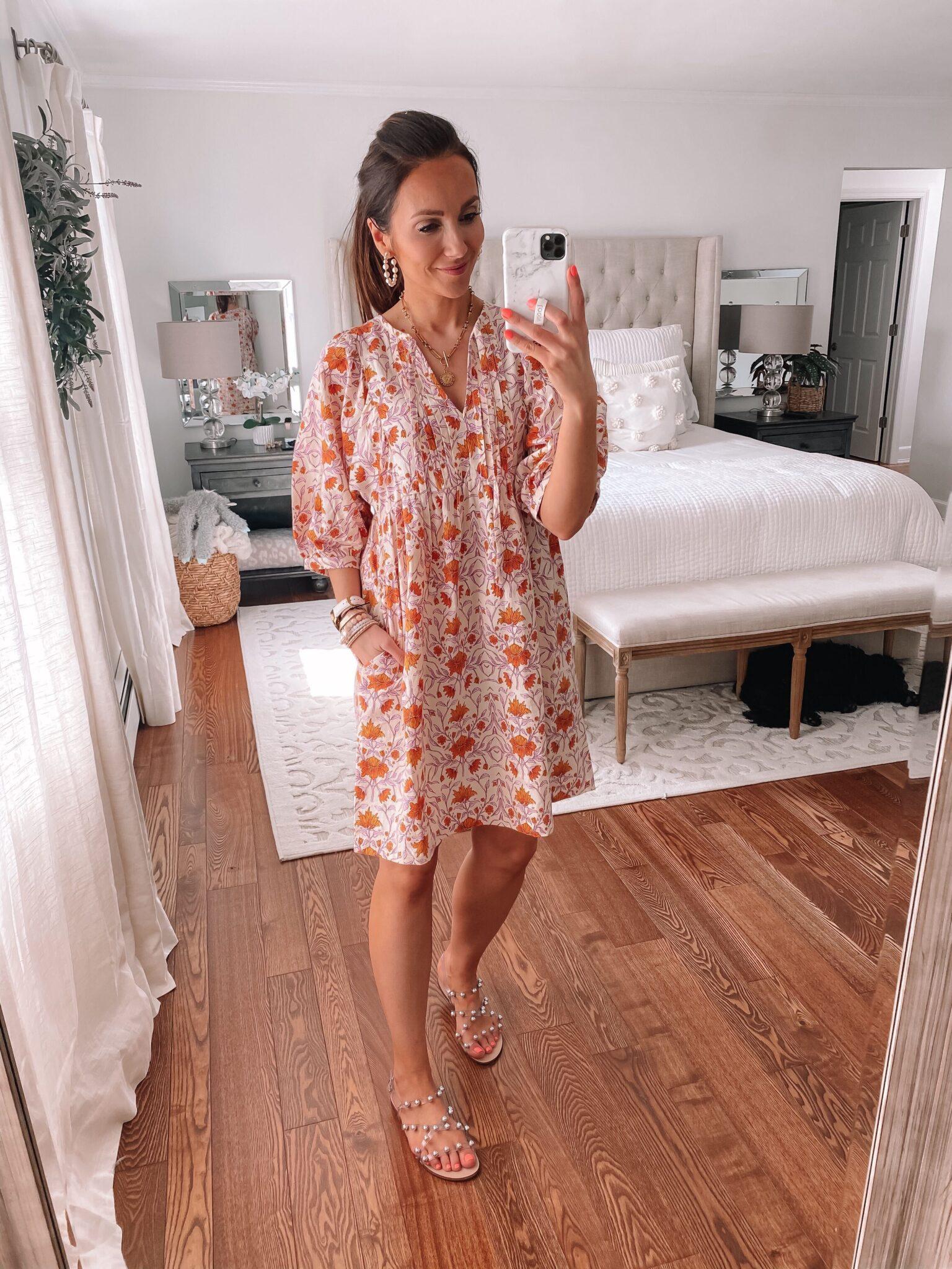 target puff sleeve dress