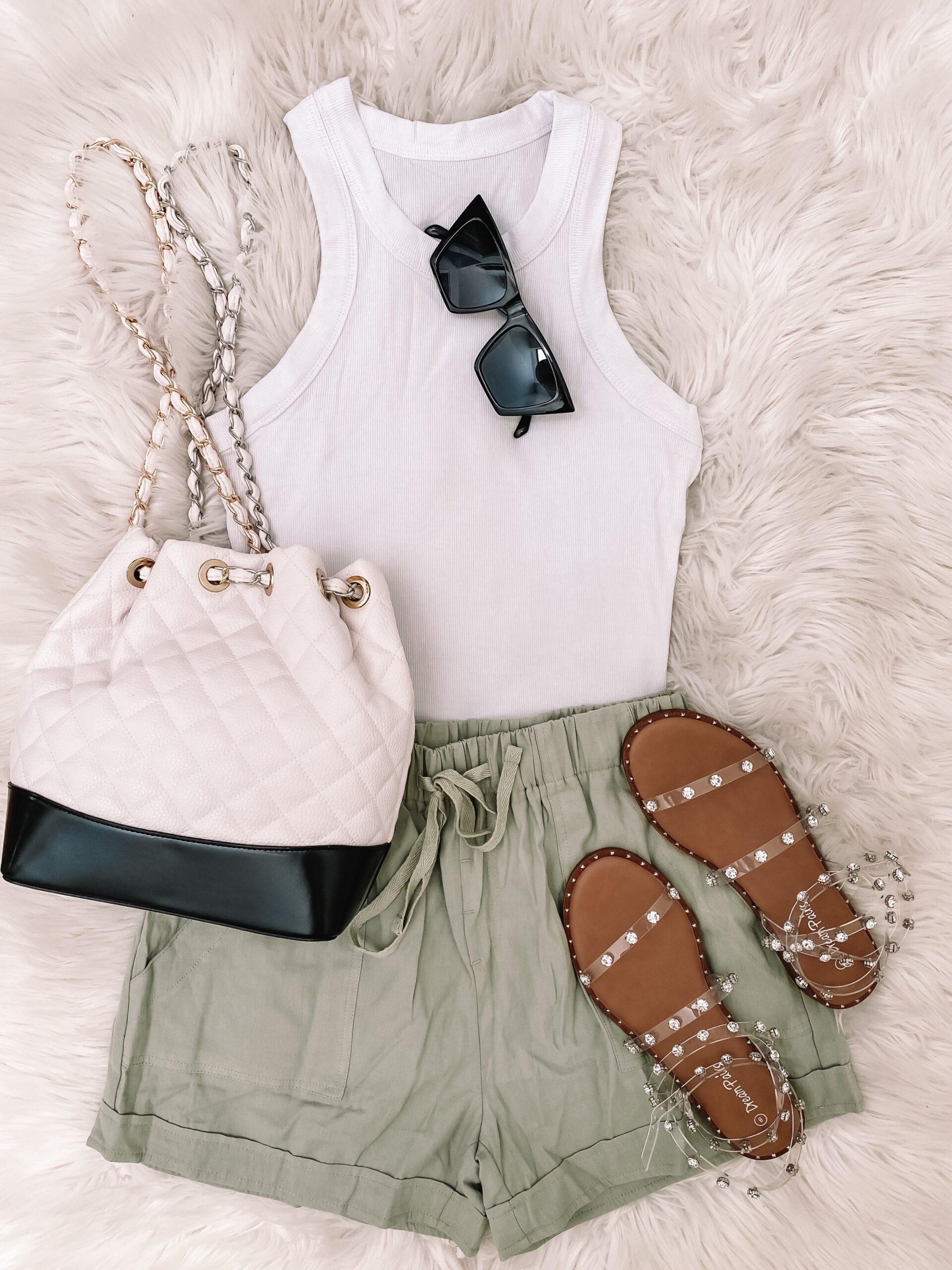 amazon shorts and amazon tank, amazon fashion