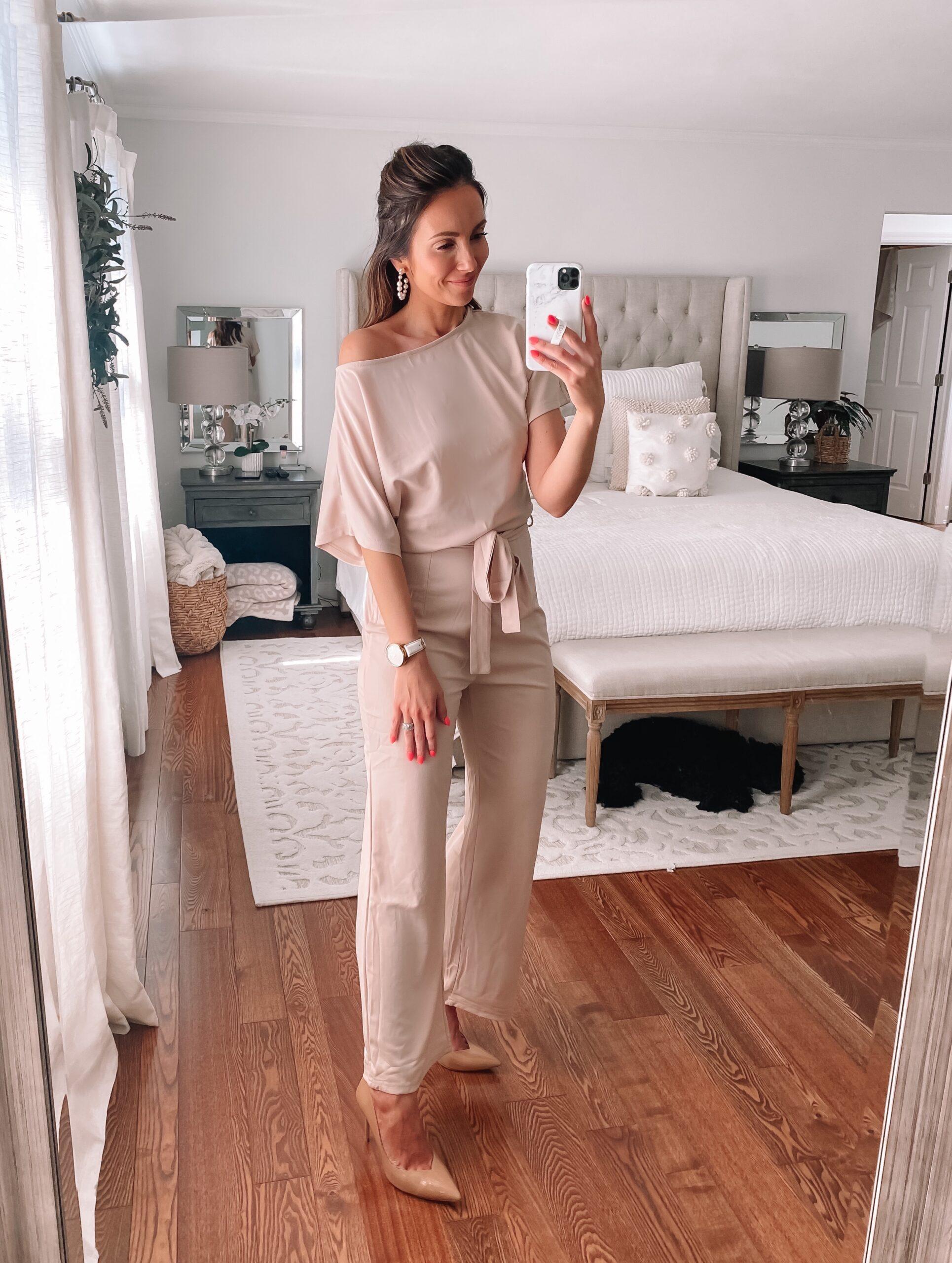 amazon blush jumpsuit
