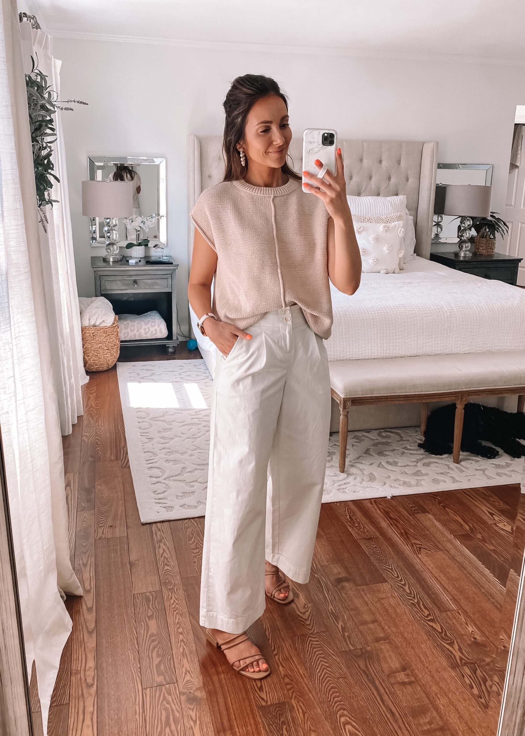target style, target wide leg pants, target spring outfit