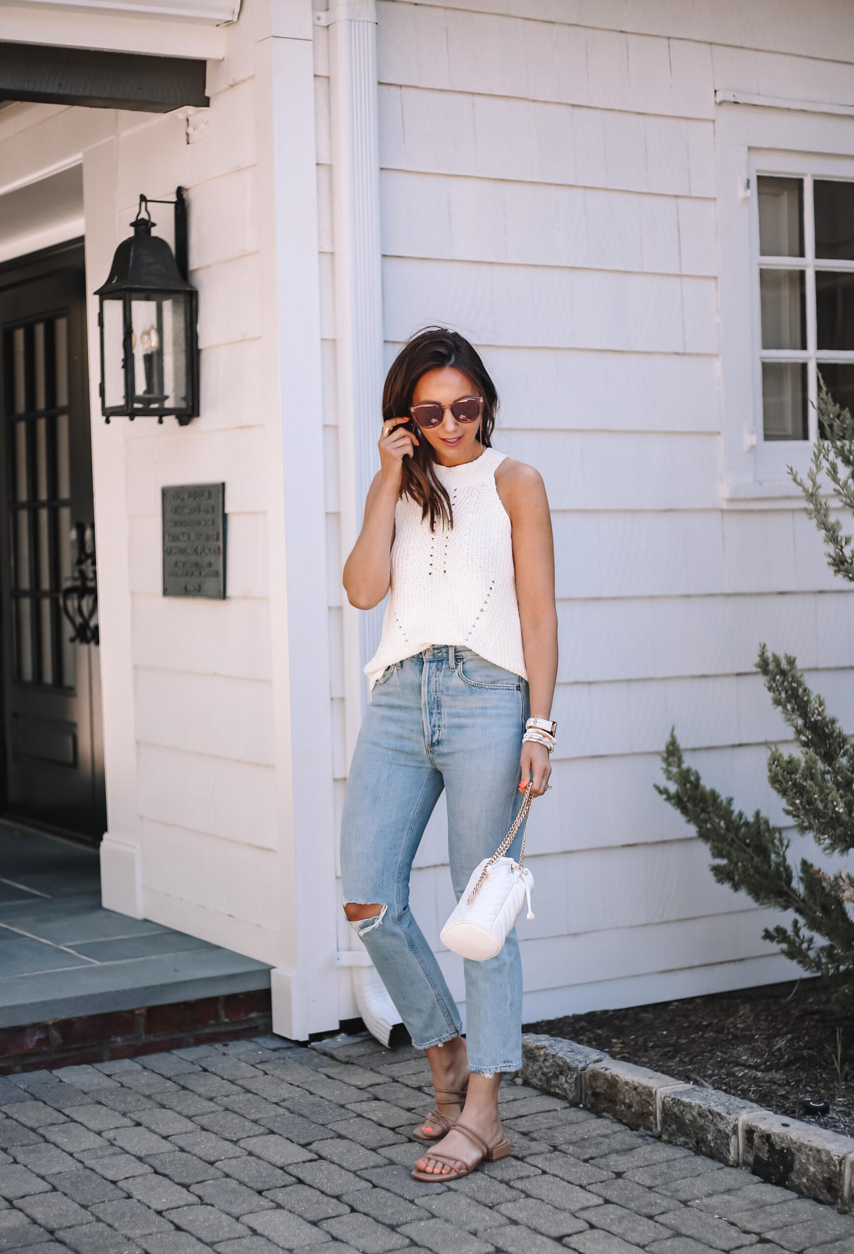 agolde jeans on sale, sweater tank on sale