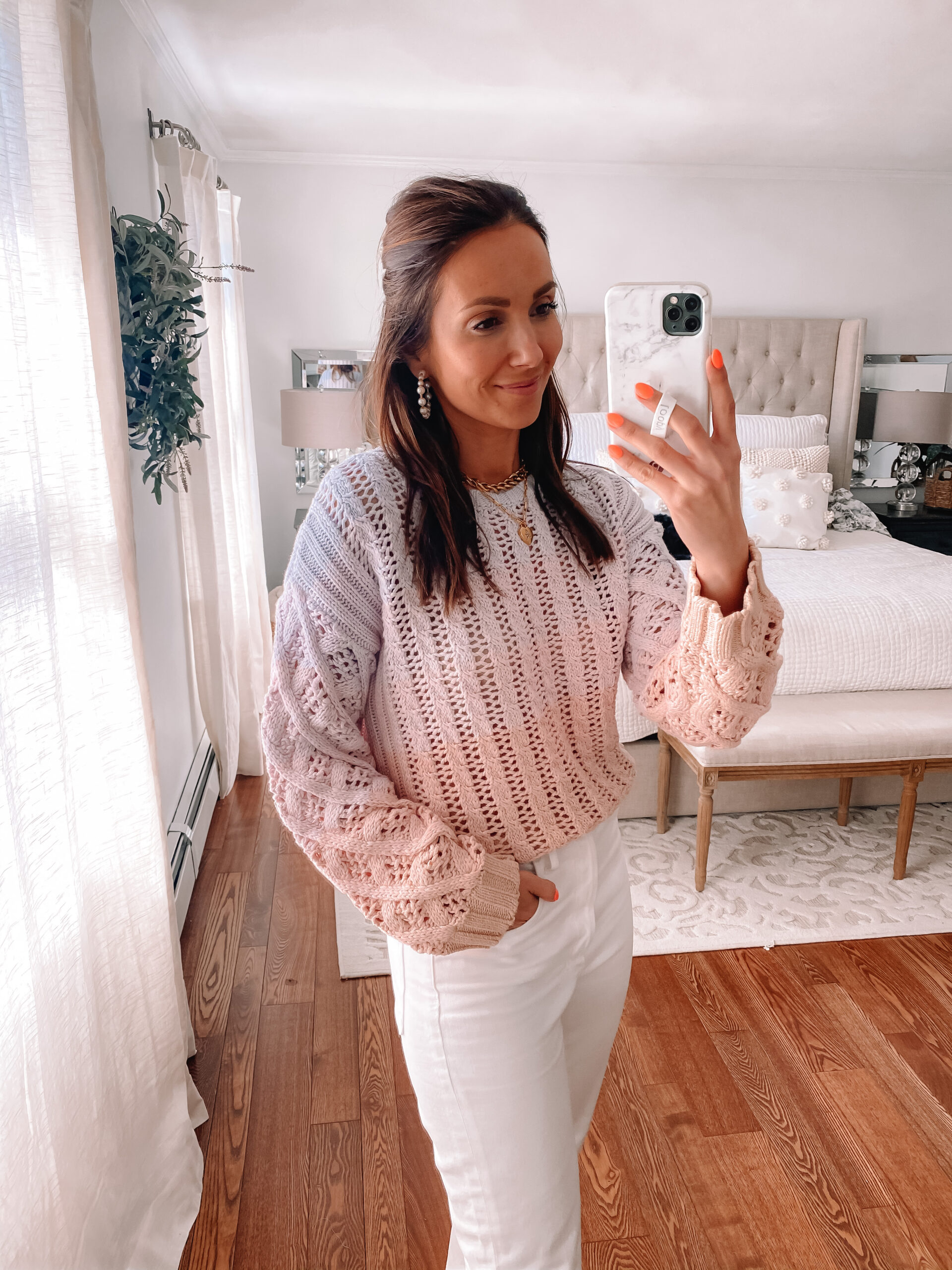 ombre sweater, summer sweater
