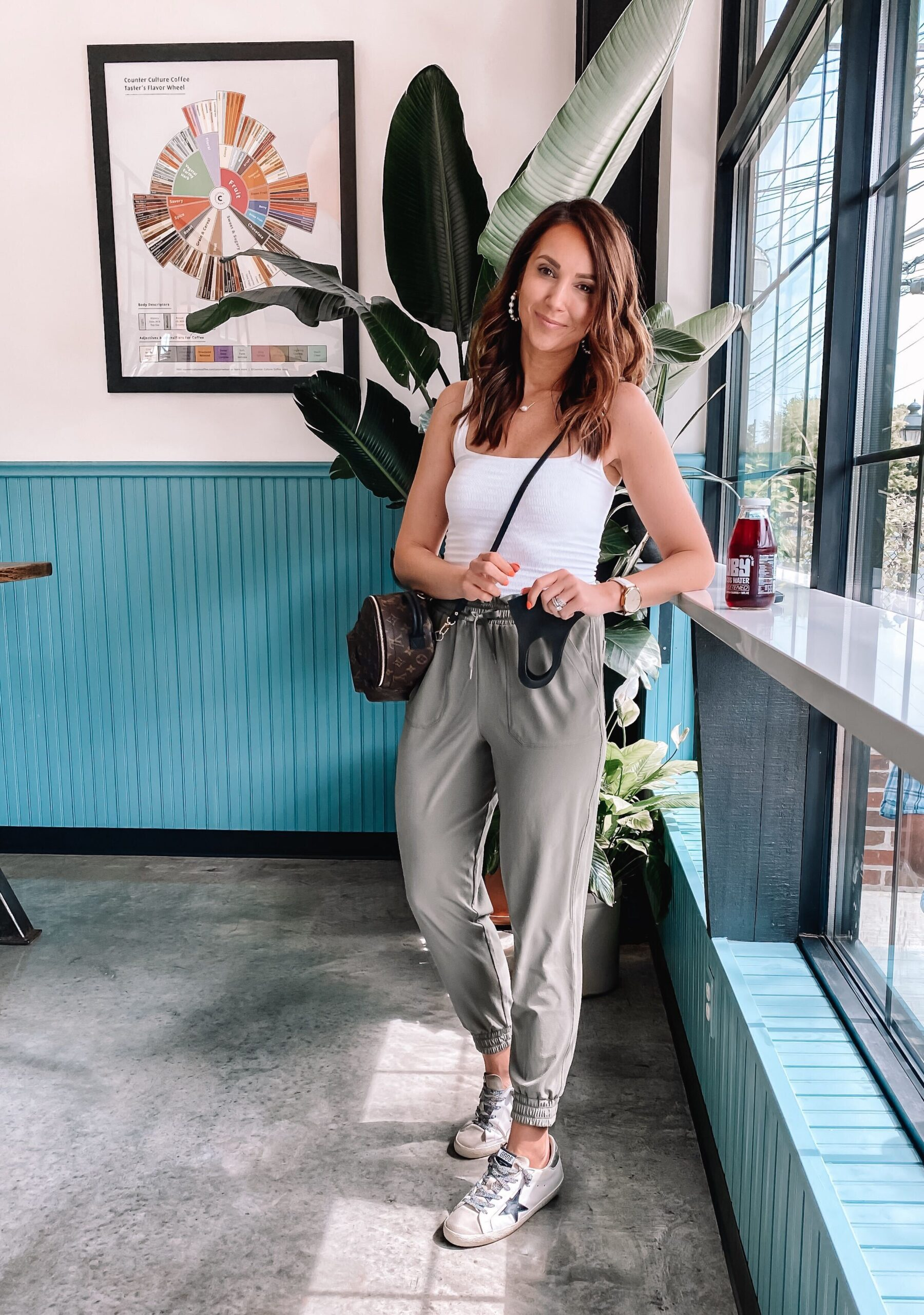 athleisure style, zella joggers and tank