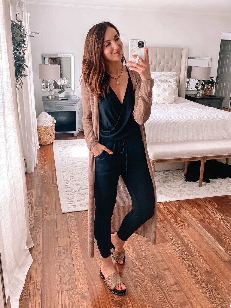 express duster with jumpsuit