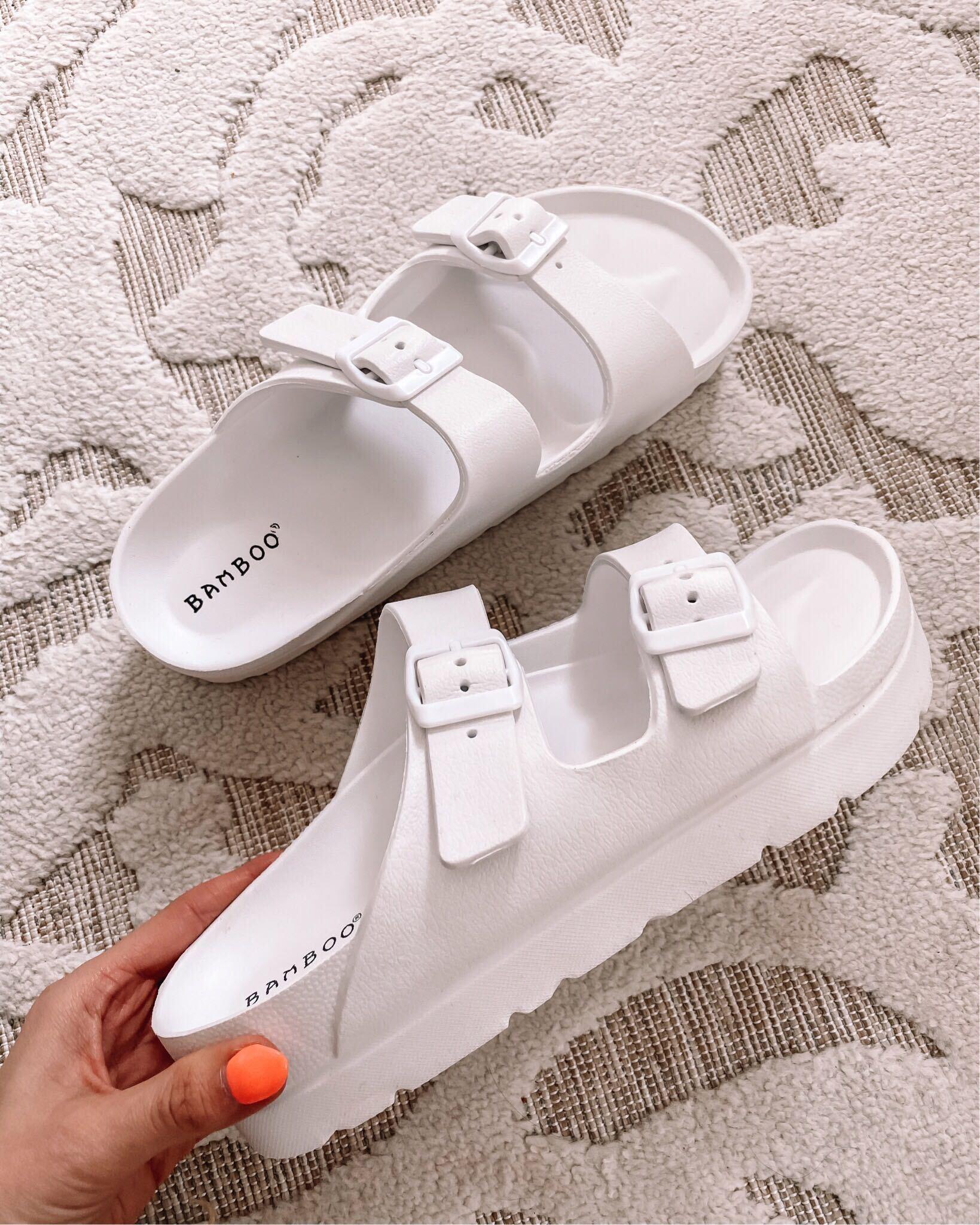 forever 21 white sandals