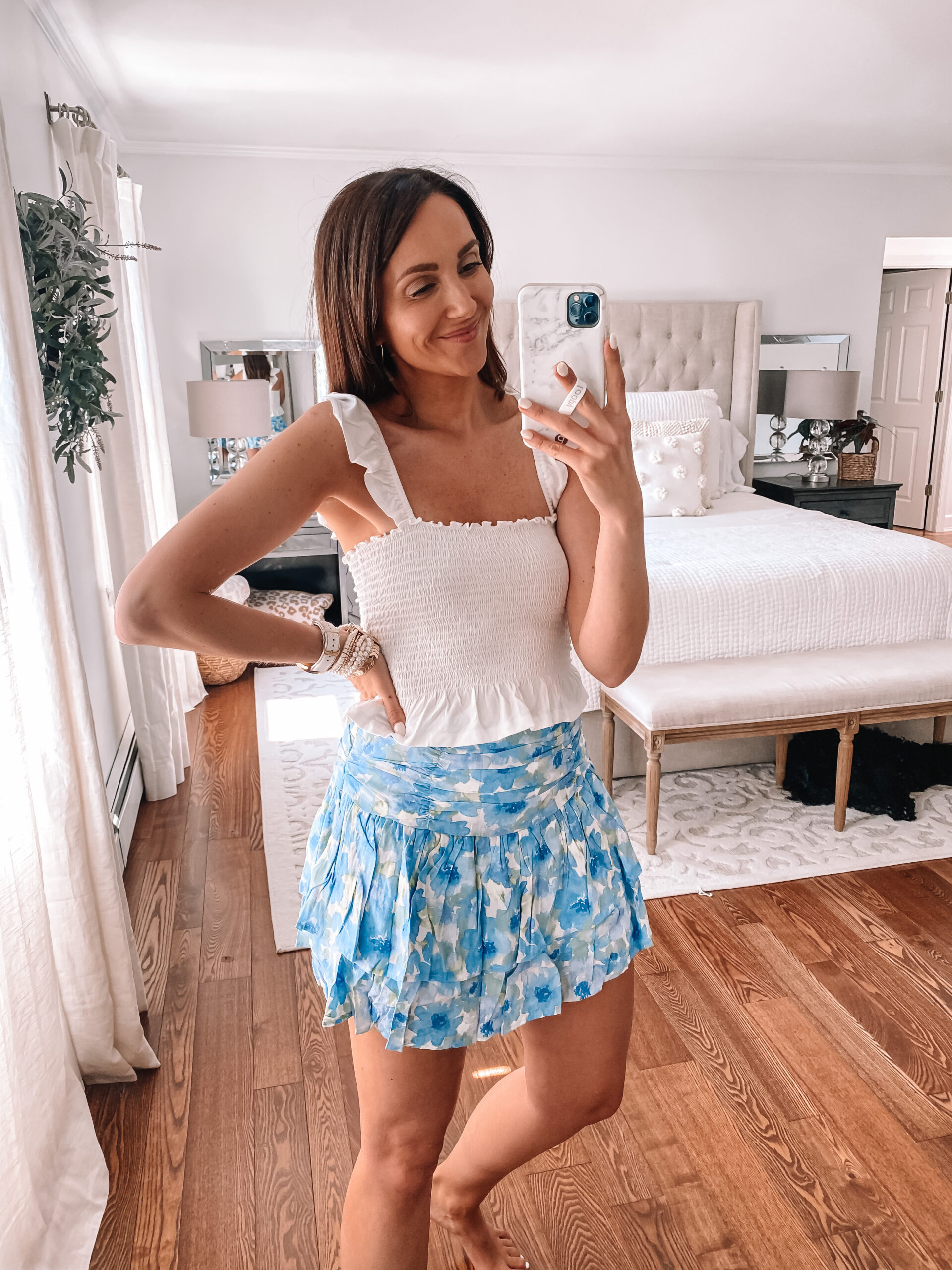Forever 21 skirt and top