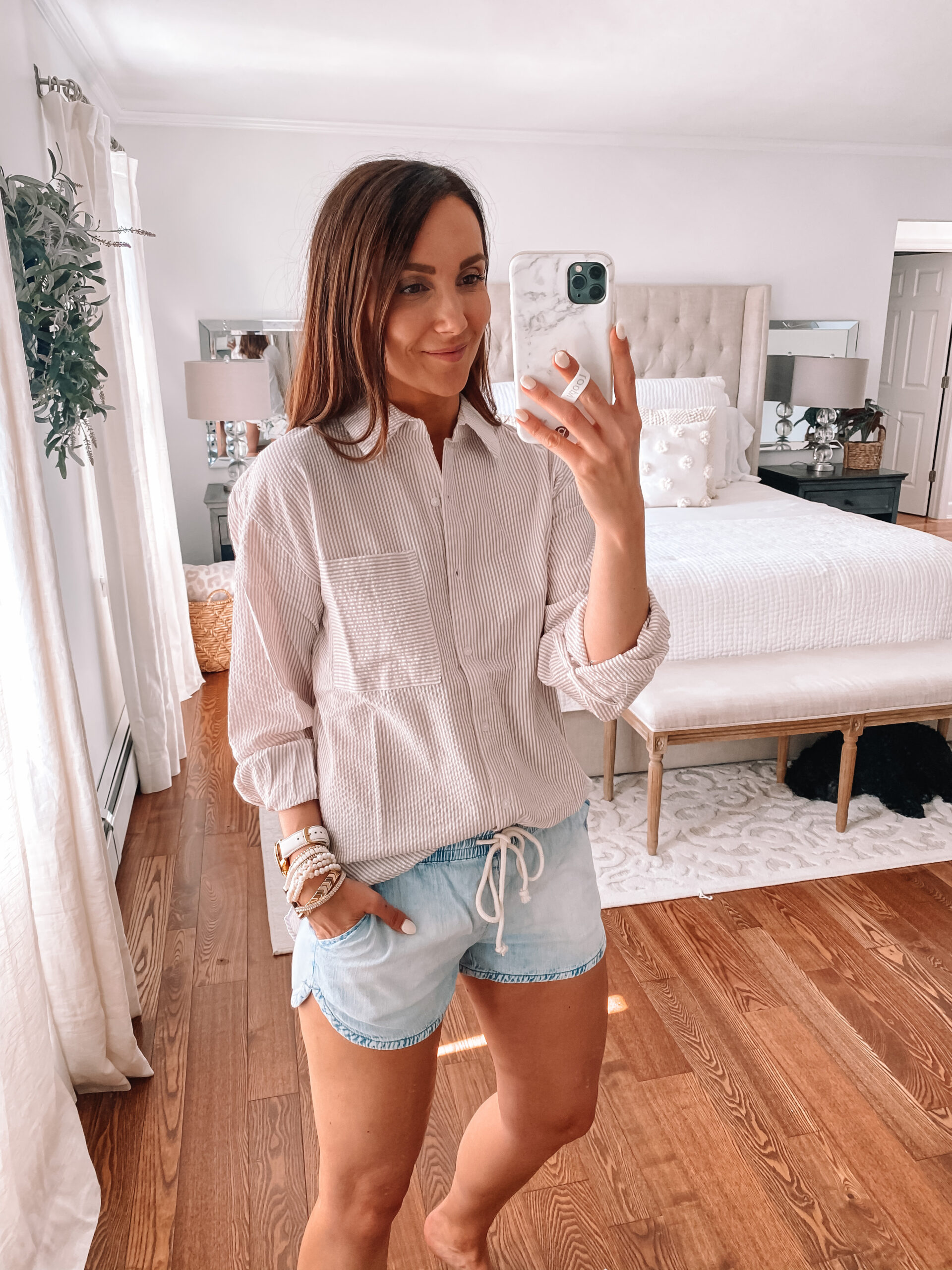 forever 21 button down and shorts