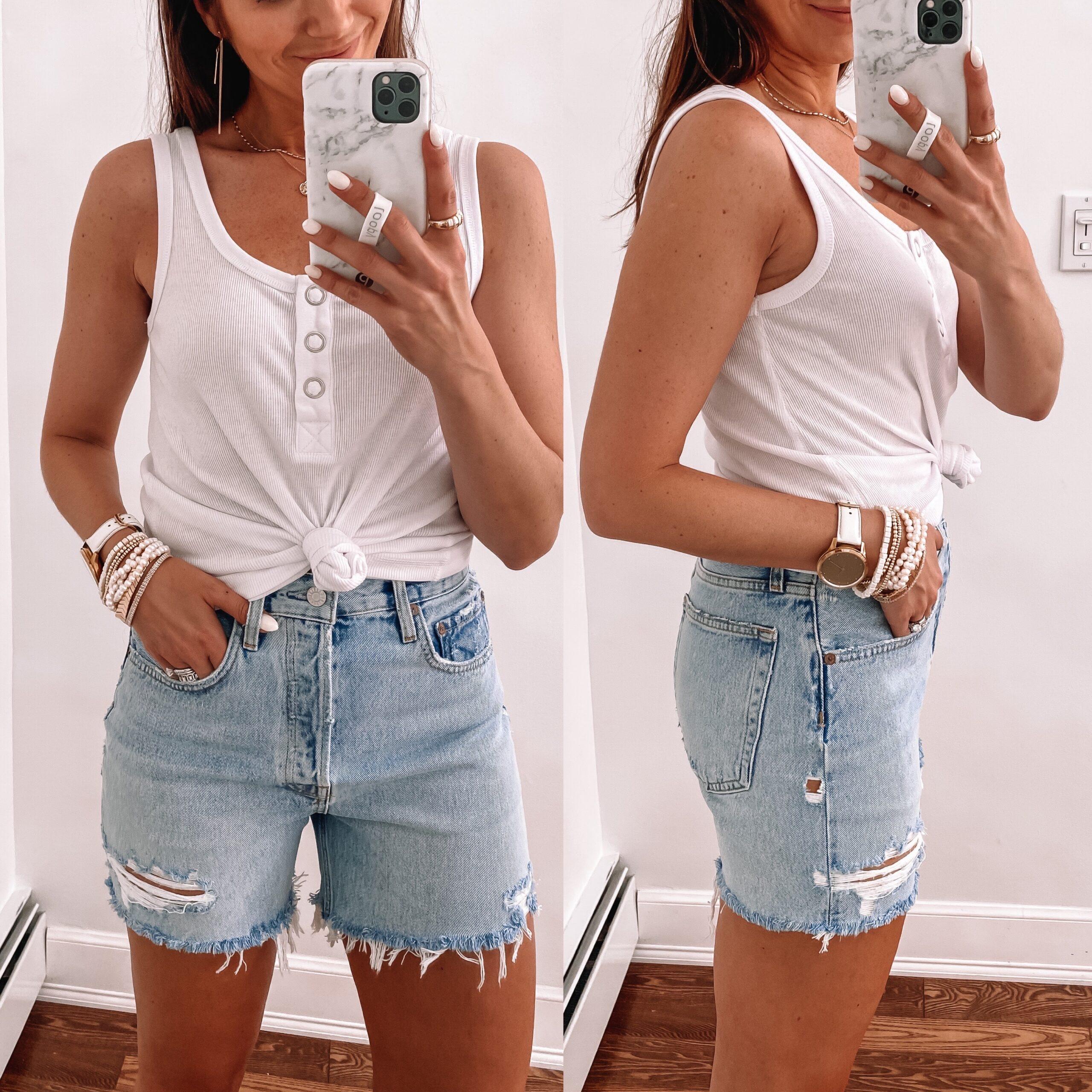 Agolde Riley Denim Shorts