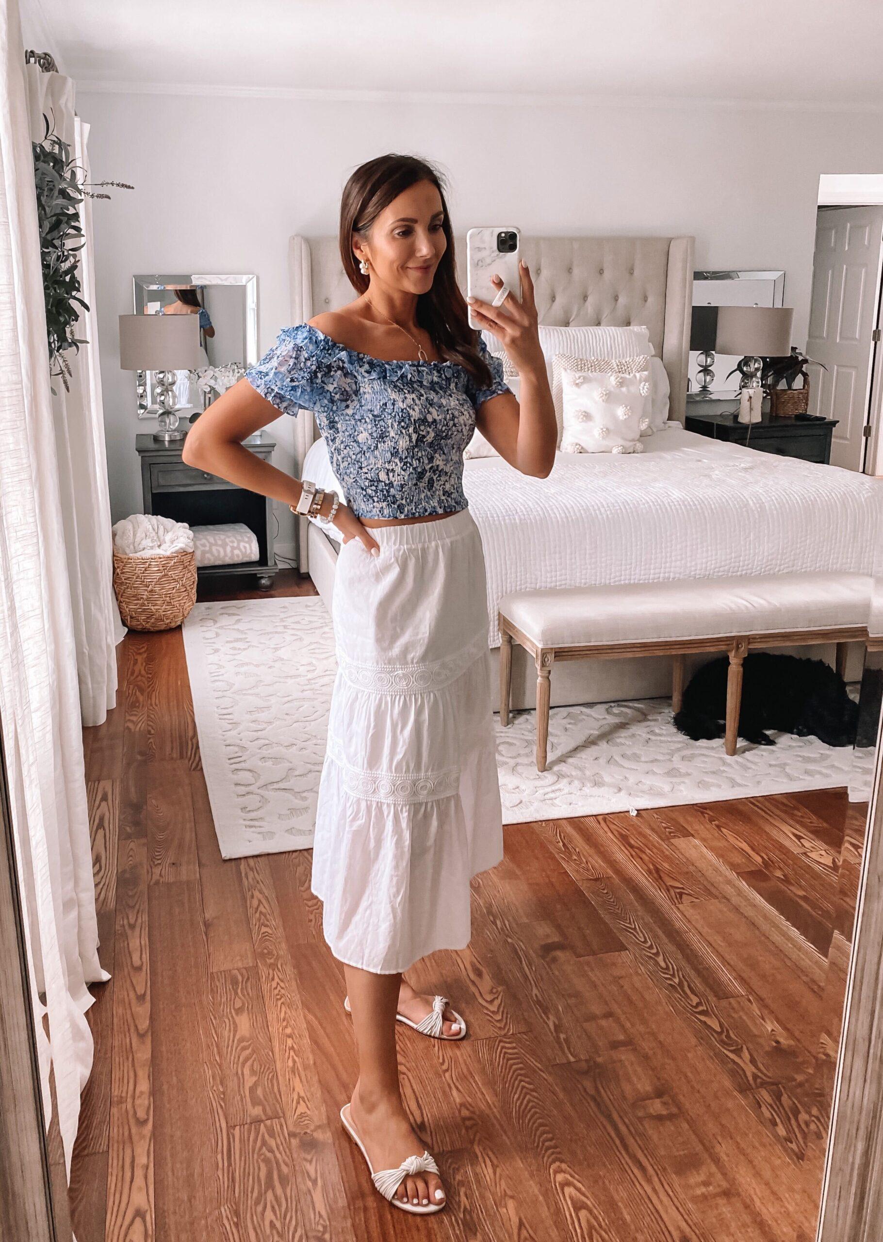 maxi skirt and express top