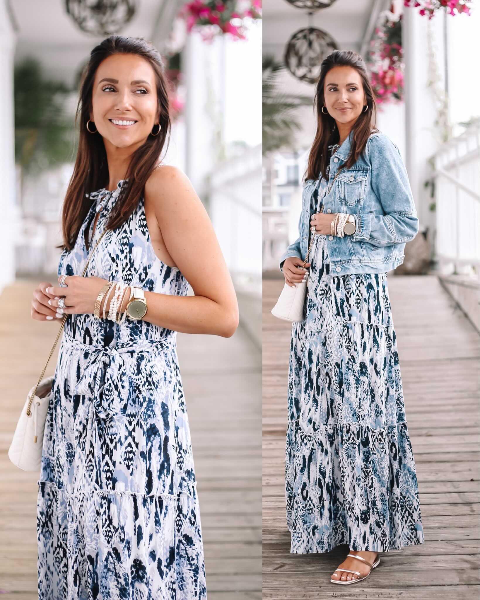 evereve floral maxi dress