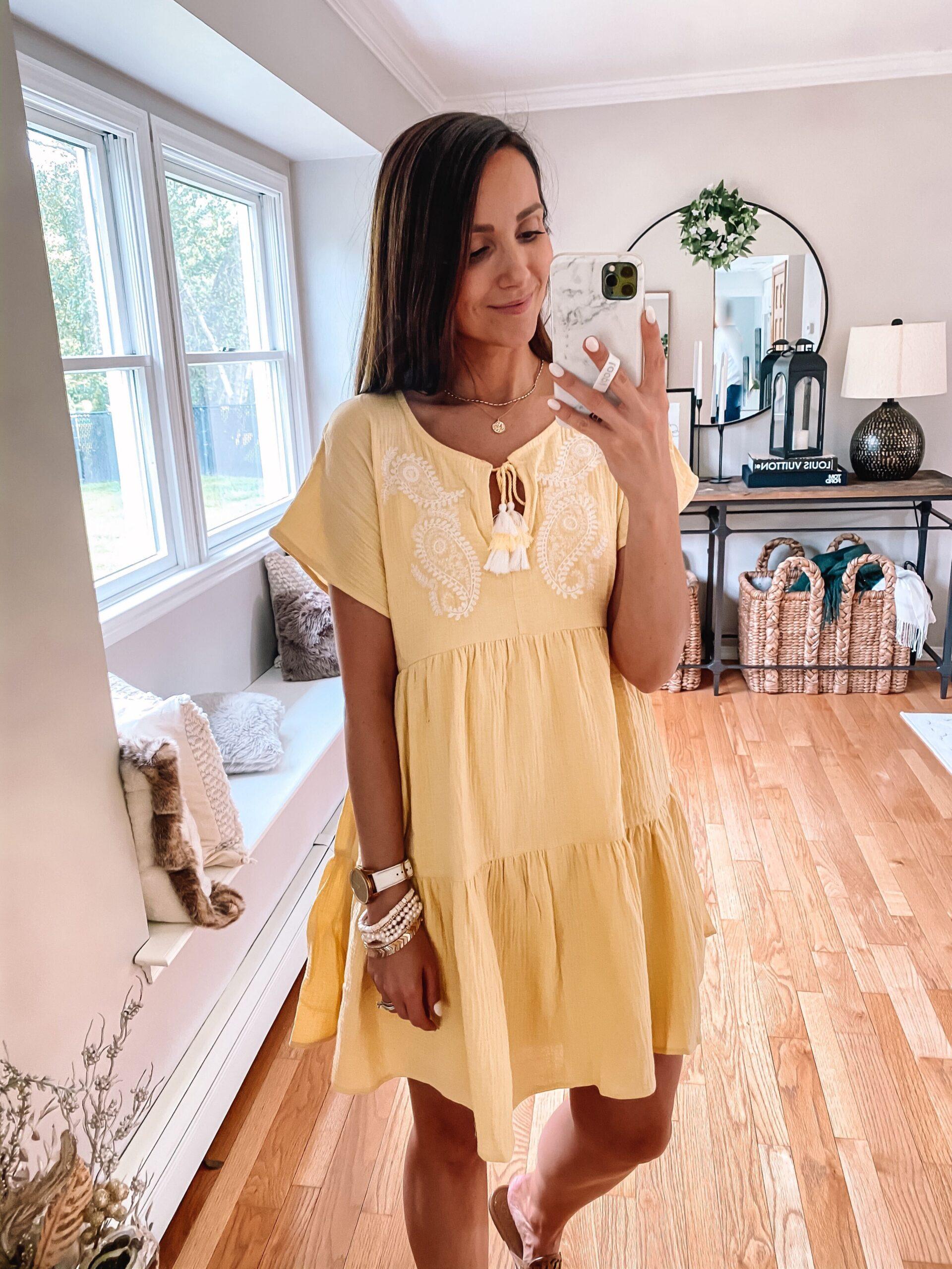 walmart yellow dress, walmart fashion find