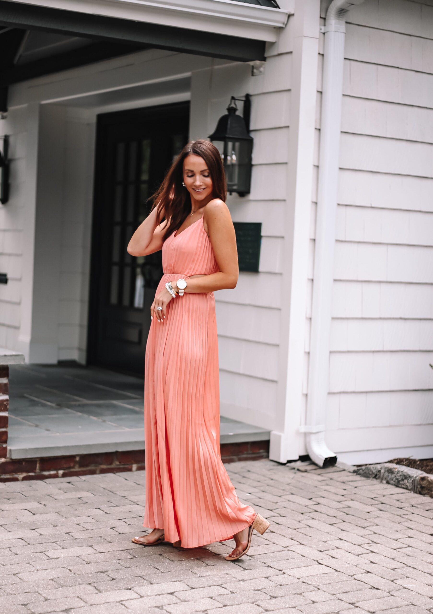 coral express wedding dress