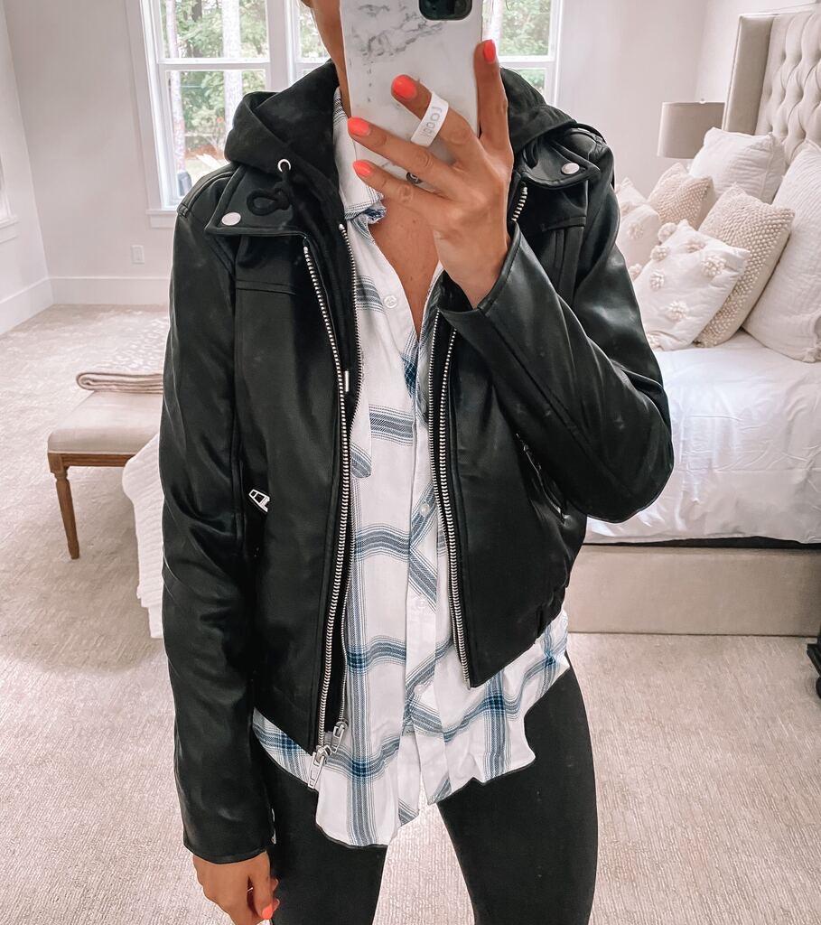 nsale leather jacket