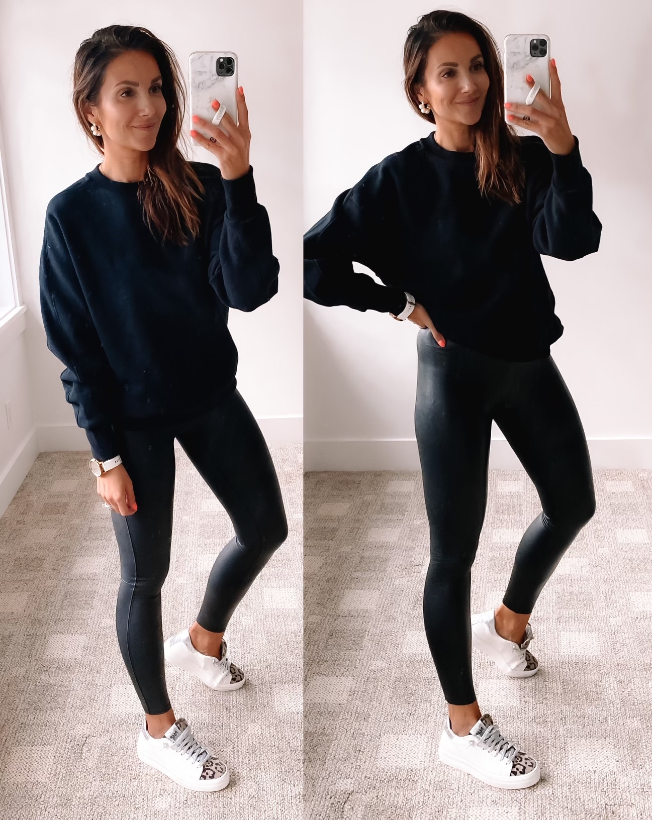 Faux leather leggings review