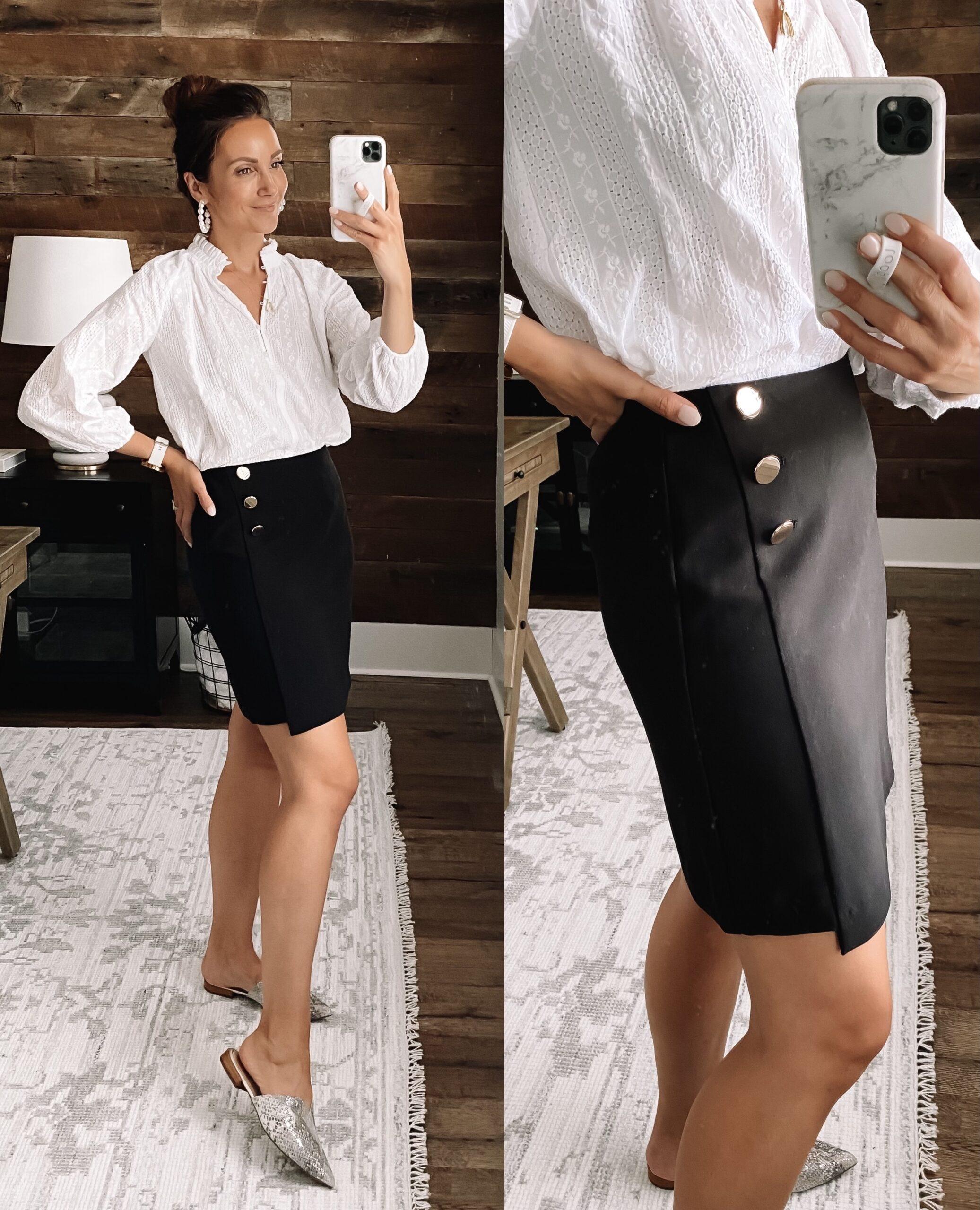 loft workwear outfit, loft teacher outfit, loft skirt