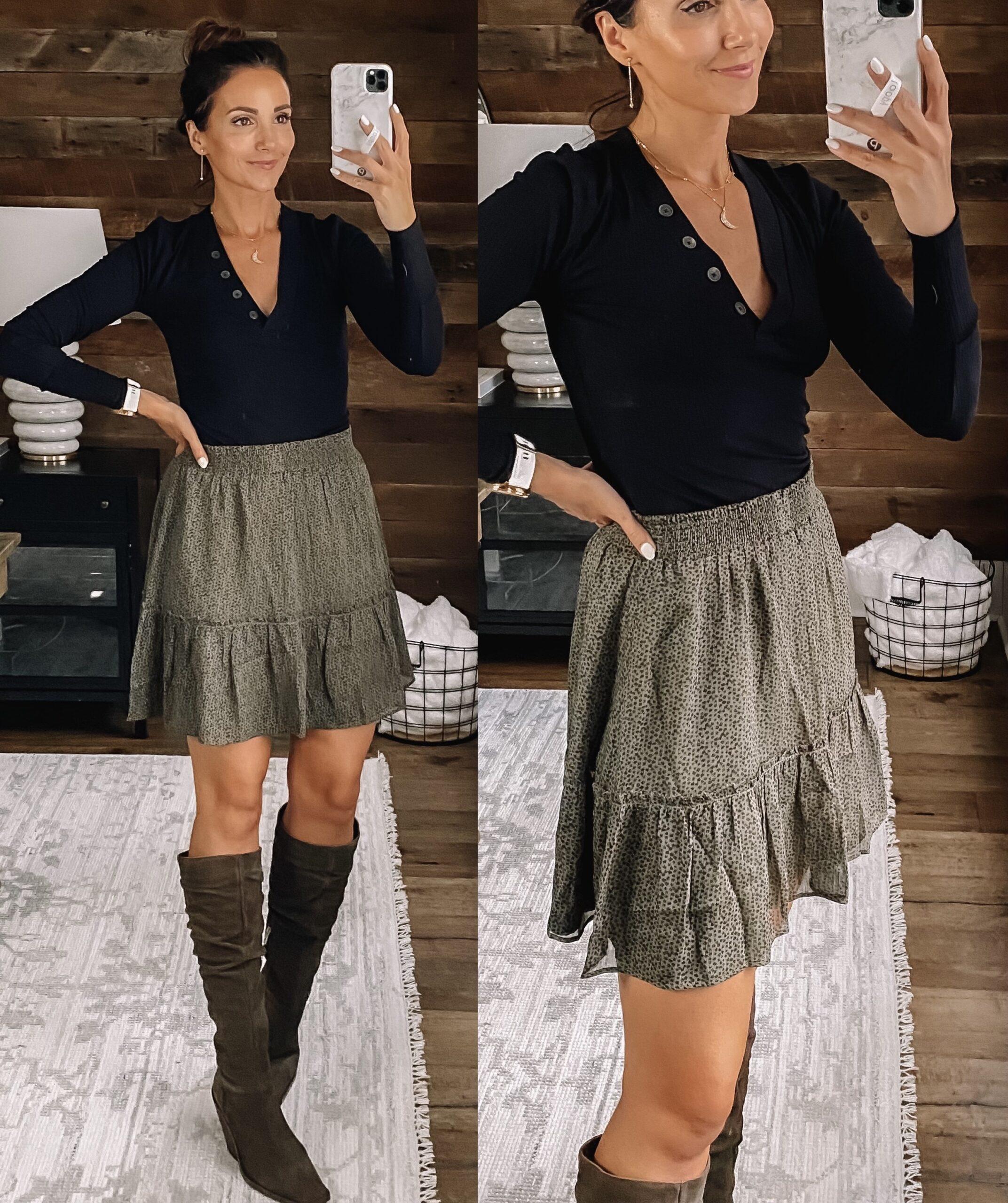 loft fall style, loft skirt