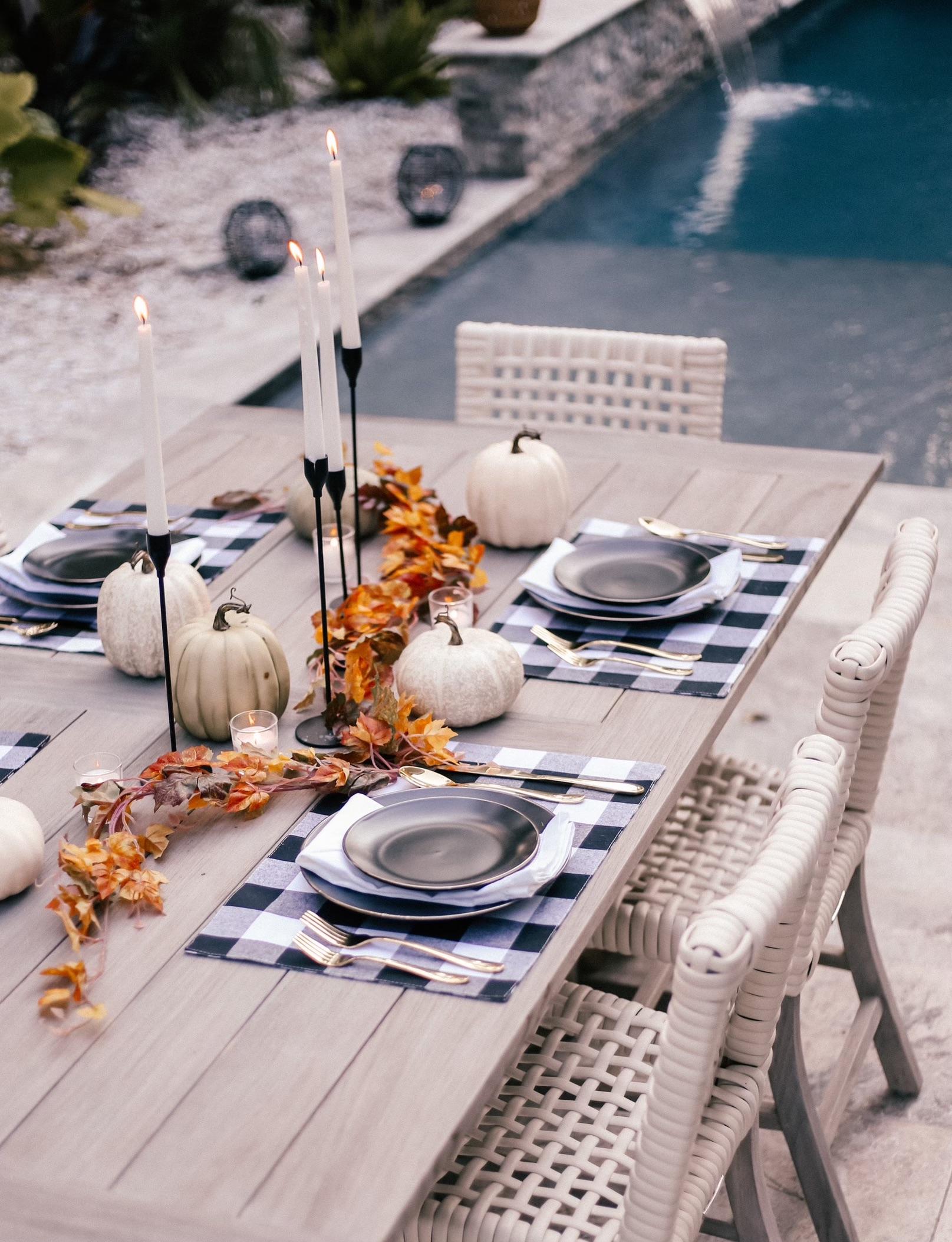 walmart fall tablescape, walmart home decor