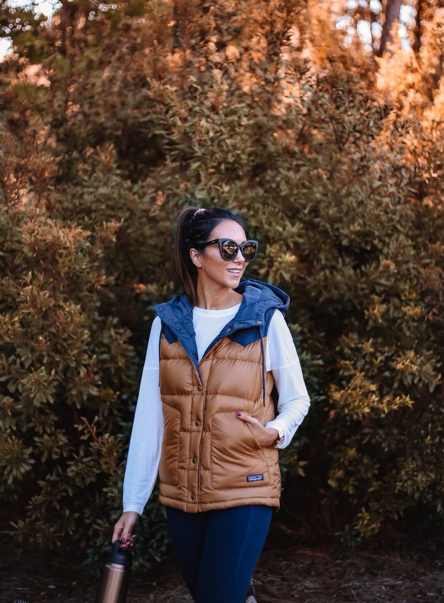 Patagonia vest, fall outfit