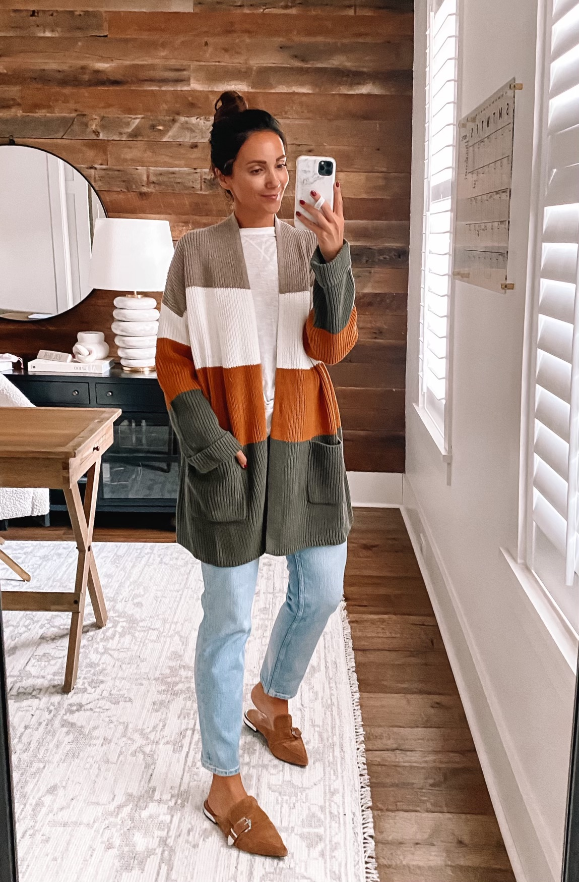 walmart fall fashion, walmart fall outfit, cardigan and jeans