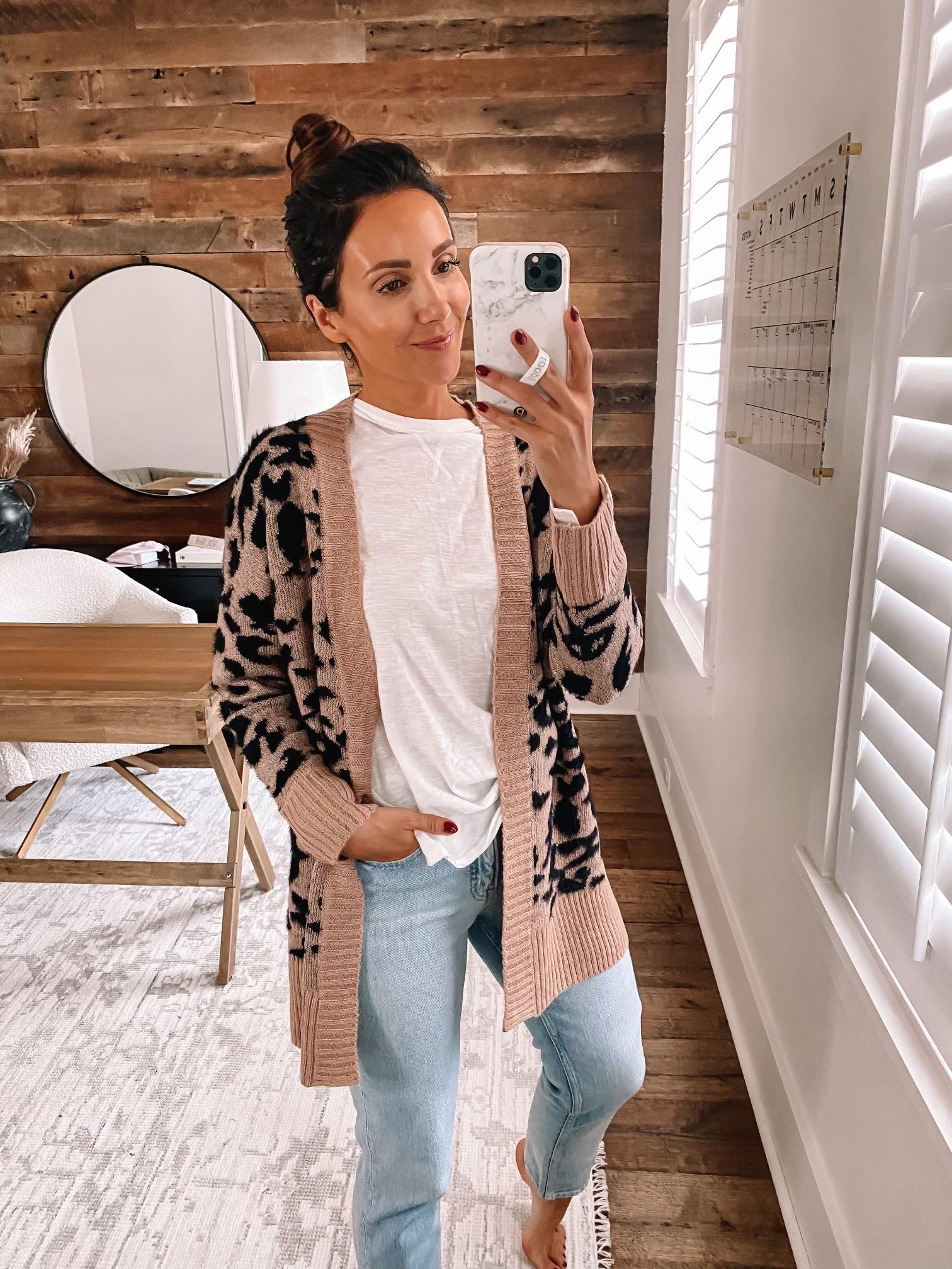 walmart fall fashion,walmart leopard cardigan