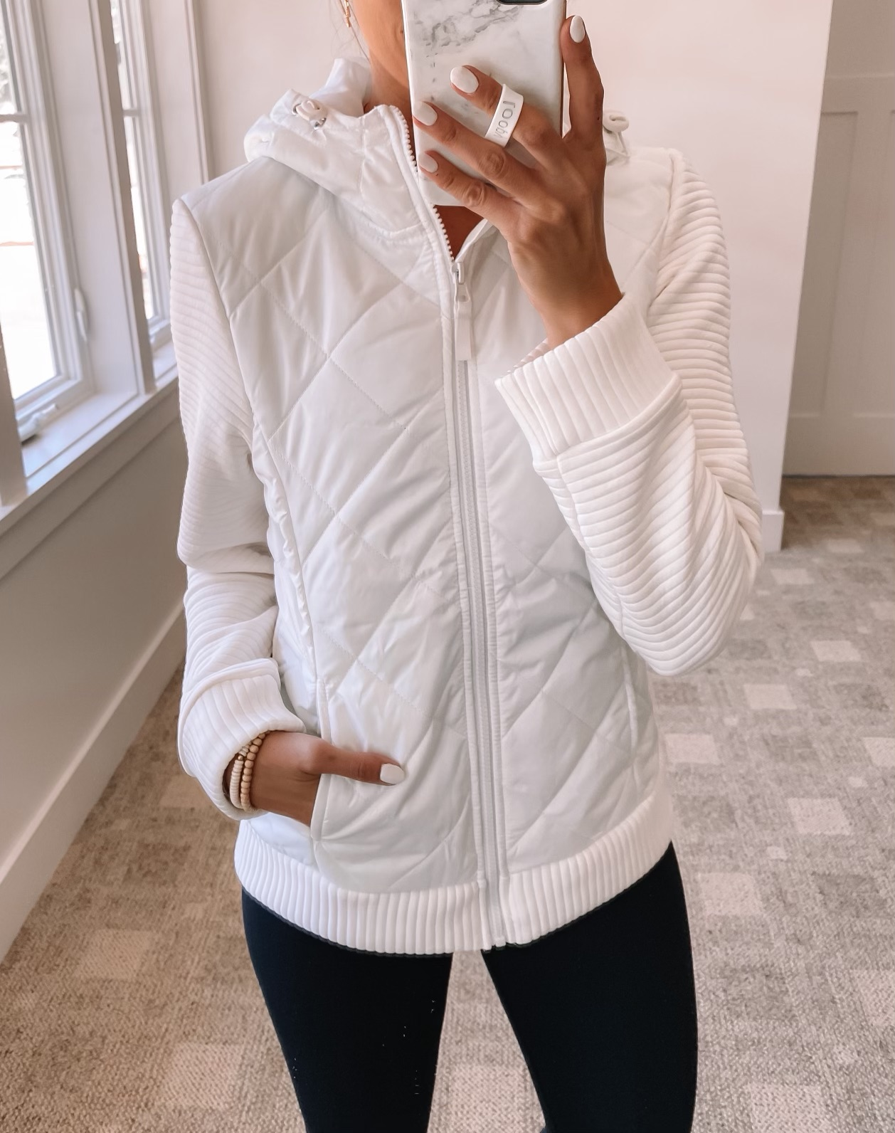 wallmart fall fashion, walmart quilted jacket